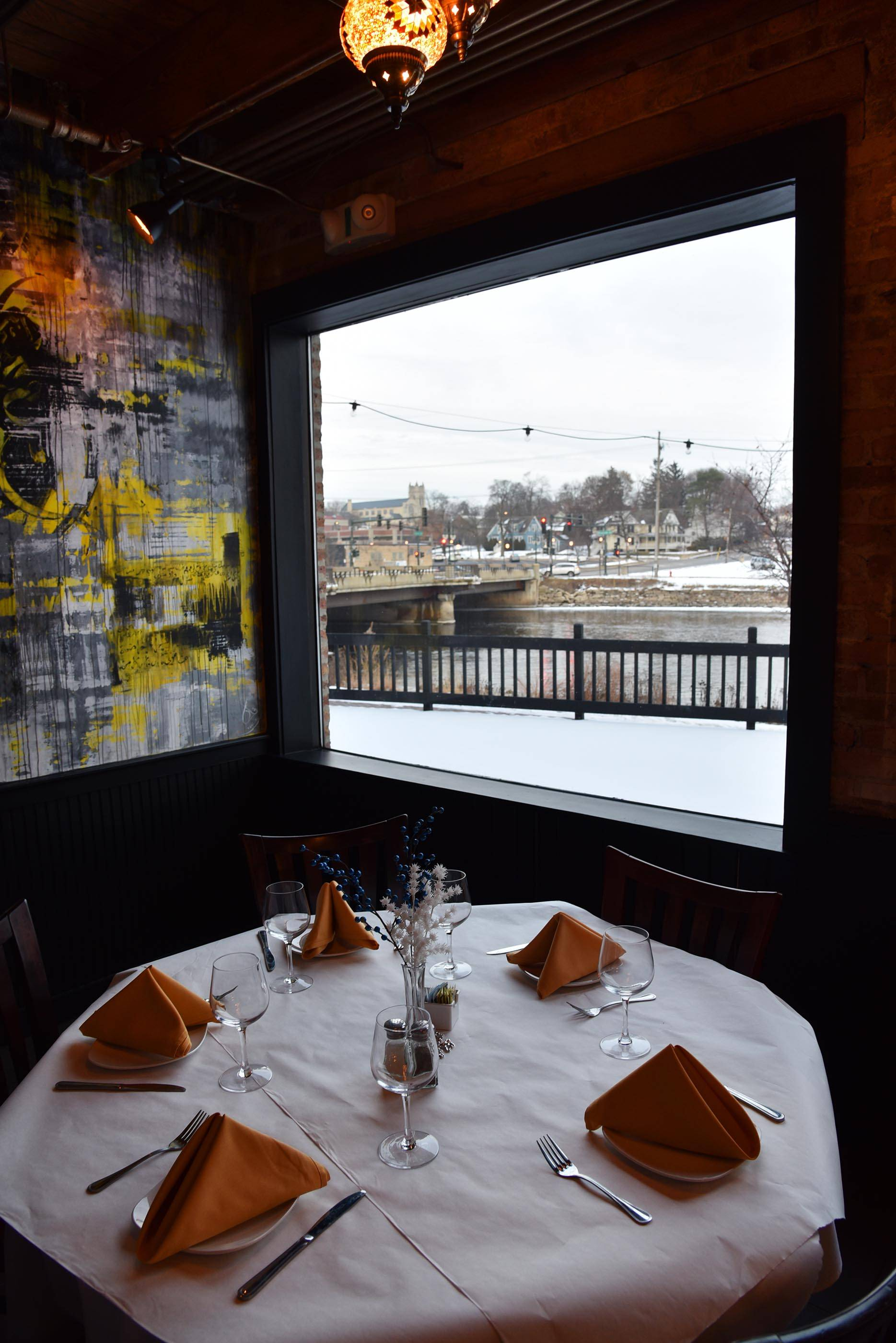 A view of the Fox River can be had from almost every table at St. Charles' Eden on the River.