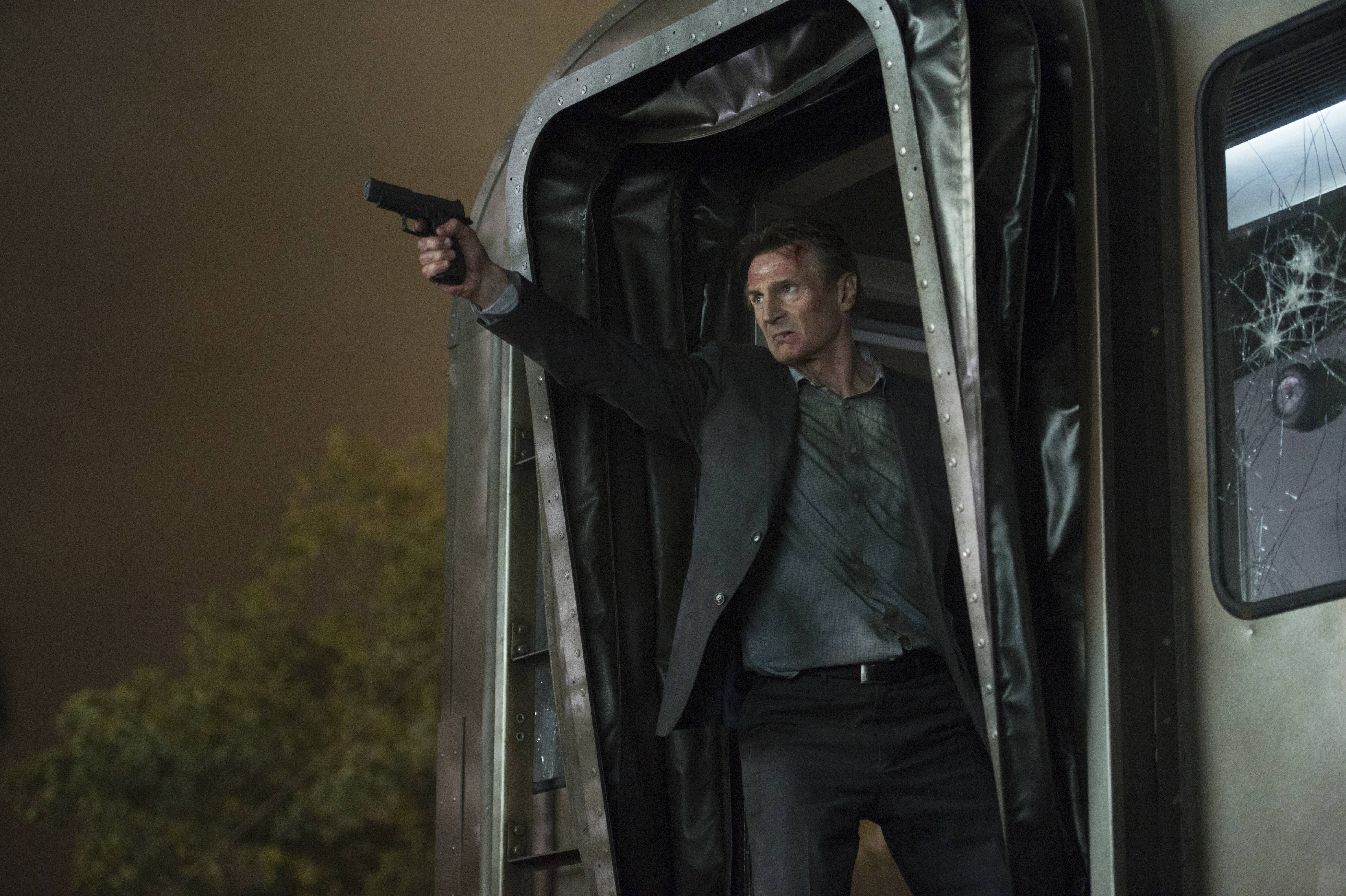 "An ex-cop (Liam Neeson) gets caught up in a dangerous plot aboard a train in ""The Commuter."""