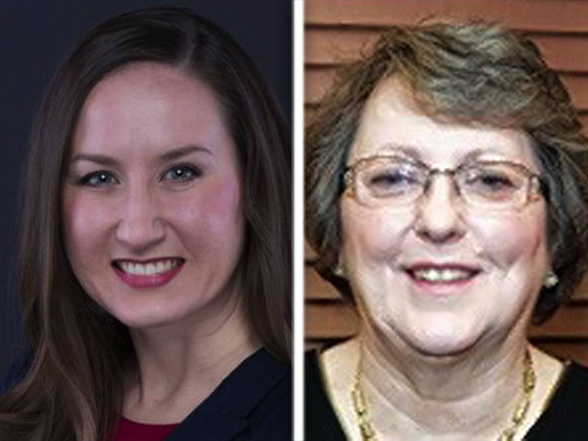 "Jillian Rose Bernas, left, and Charlotte ""Char"" Kegarise, are candidates in the 56th state House District's Republican primary."
