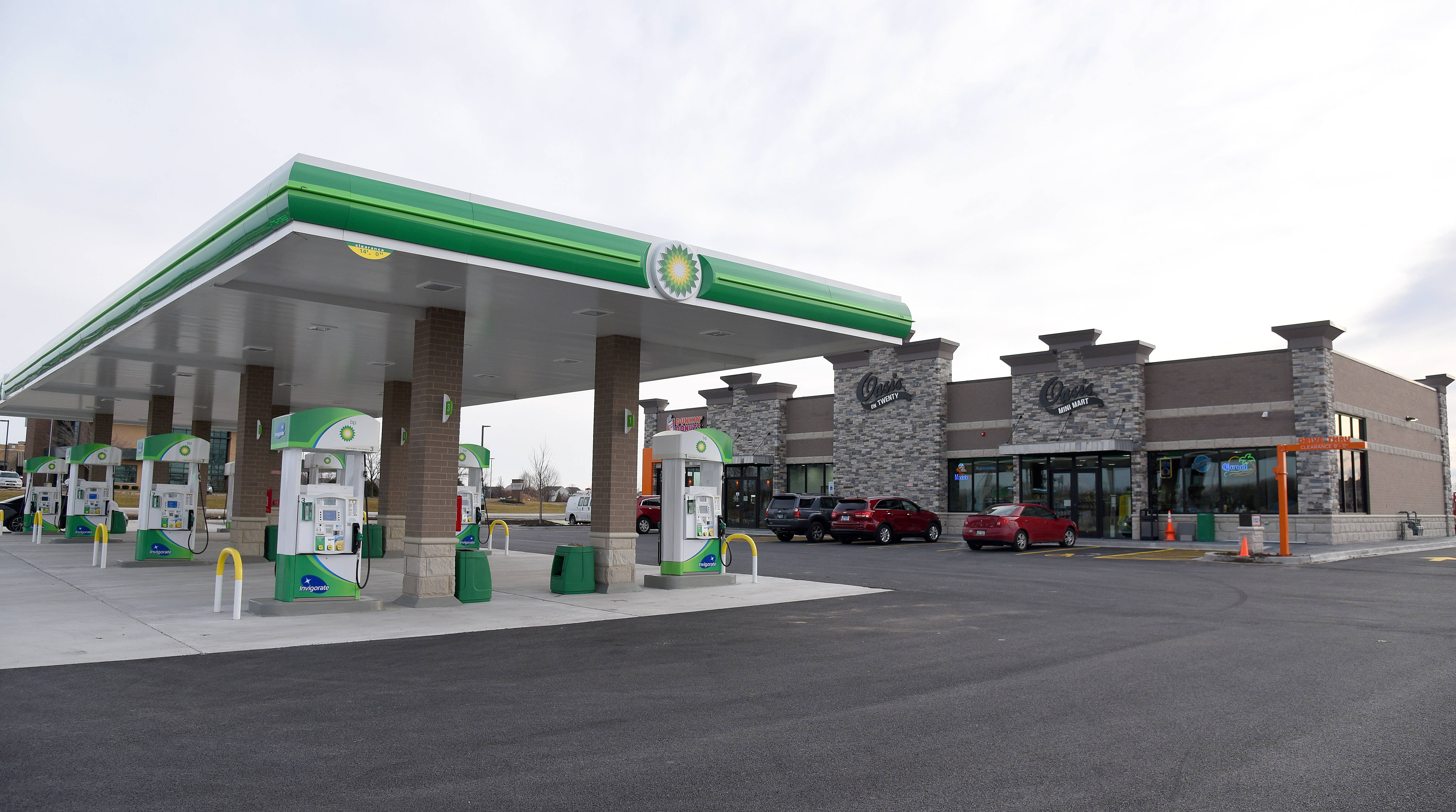 Oasis on 20 with a BP gas station and Dunkin' Donuts has opened on Route 20 at Nesler Road in Elgin.