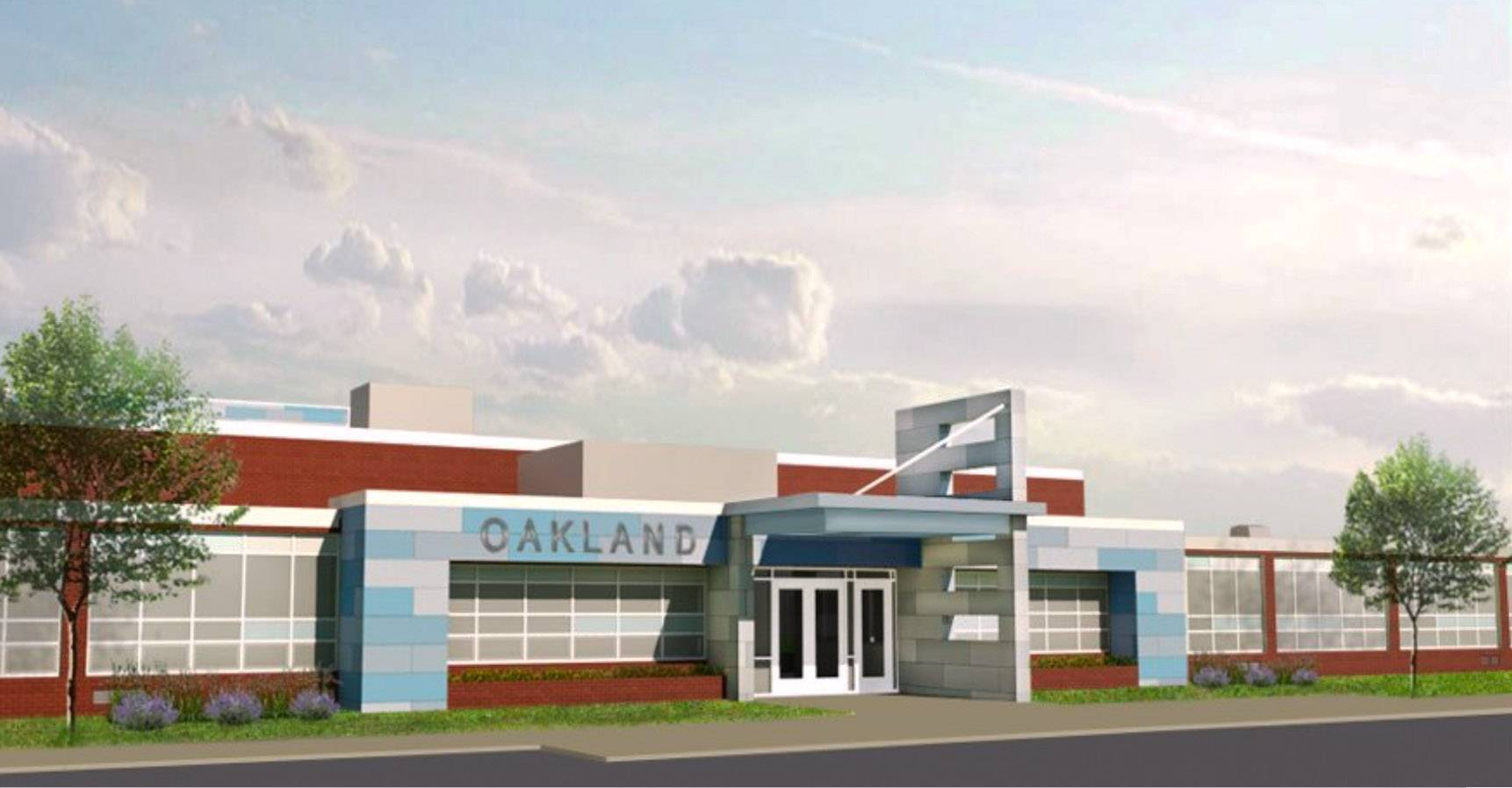 A rendering of the proposed look of Oakland Elementary School in Antioch Elementary District 34 after pending improvements.