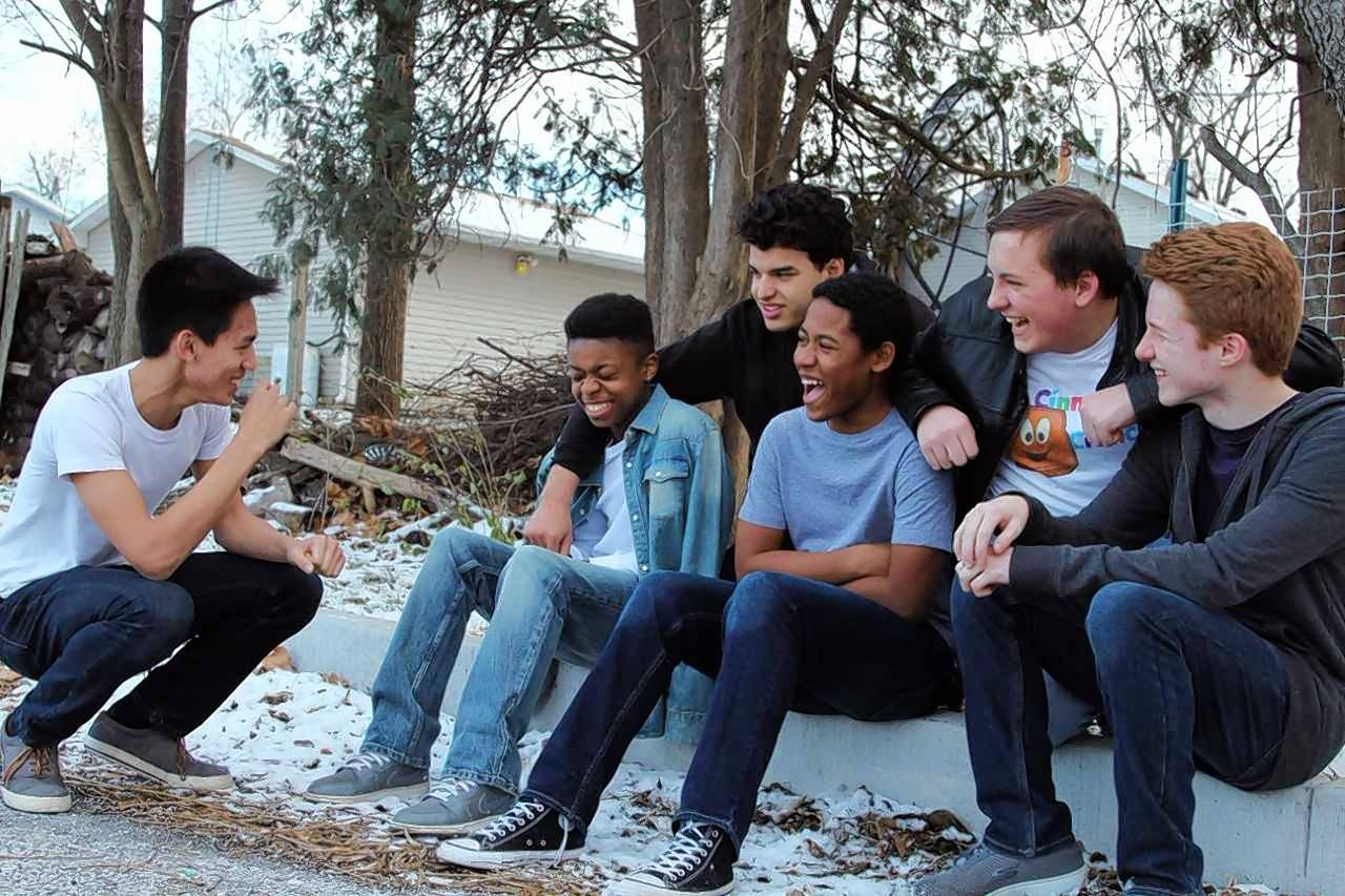 "Junior Ethan Mercado (Sodapop Curtis), freshman Jayuan Hoyle (Two-Bit), senior Julien Ortiz (Dallas Winston), freshman Isaiah Watson (Johnny Cade), sophomore Micah Hett (Darry Curtis), and freshman Brayden Sefranek (Ponyboy Curtis) will appear in West Aurora High School's production of ""The Outsiders."""