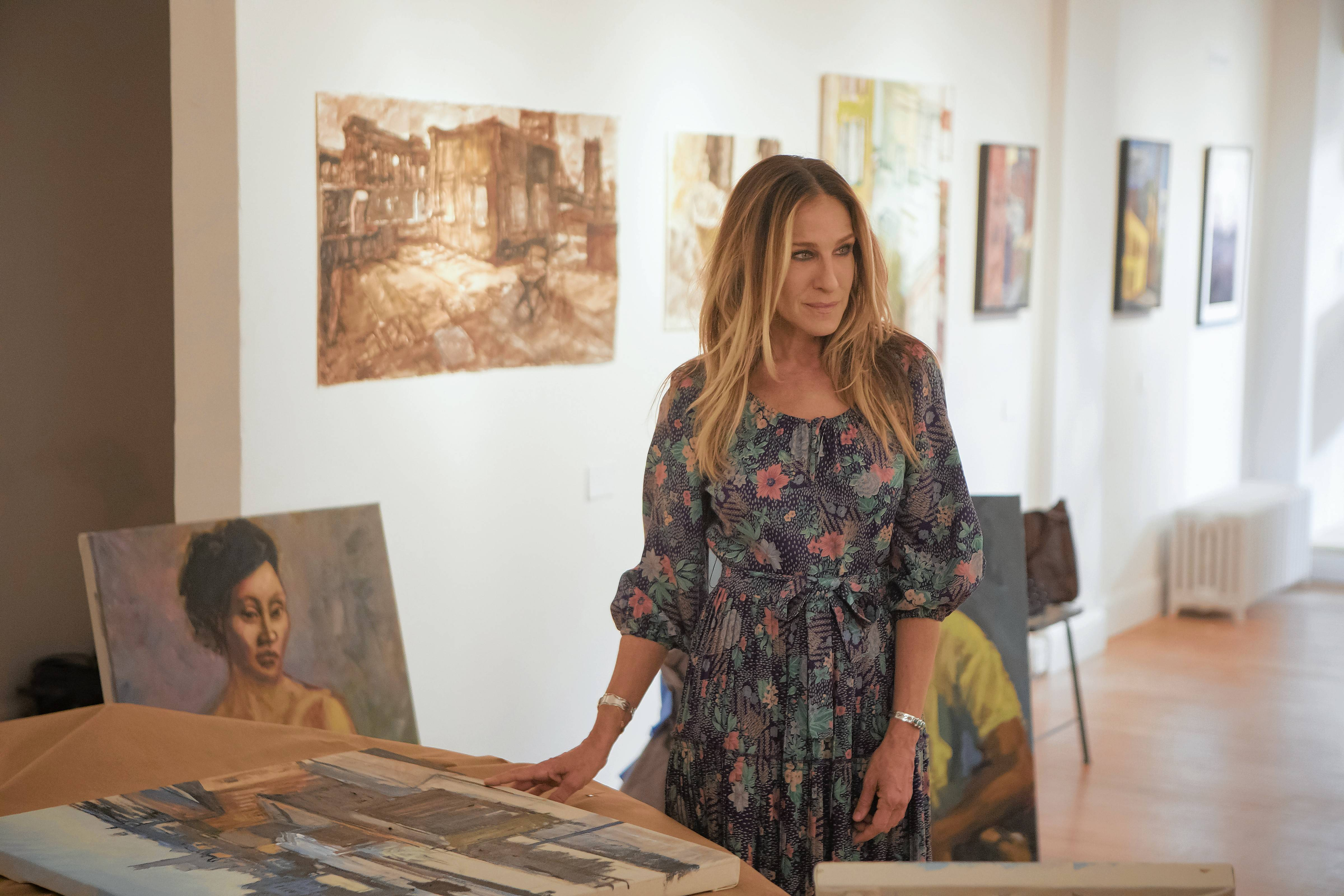 "Frances (Sarah Jessica Parker) grapples with new professional considerations at her art gallery in ""Divorce,"" returning Jan. 14 to HBO."
