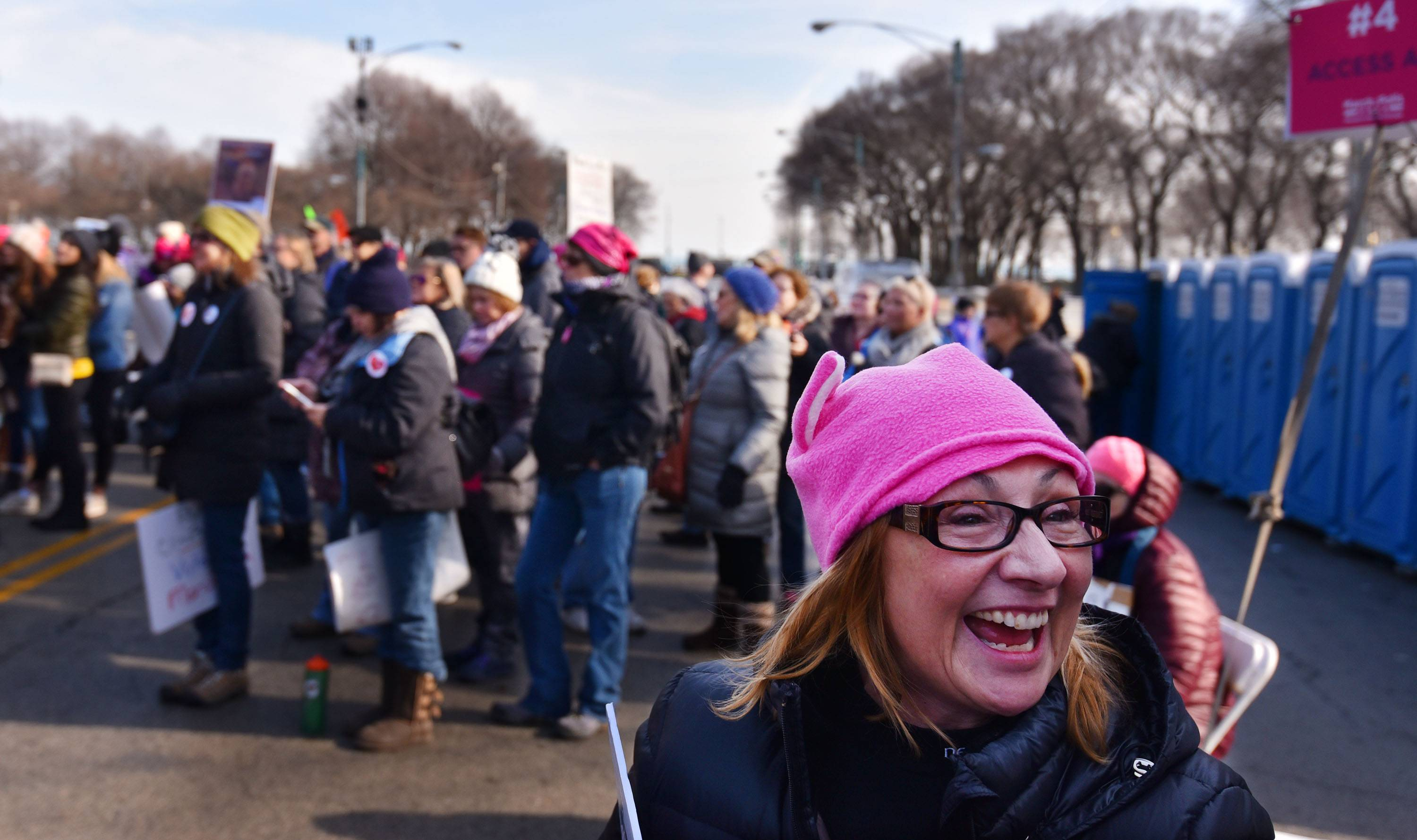 Suburbanites join the thousands at Women's March Chicago