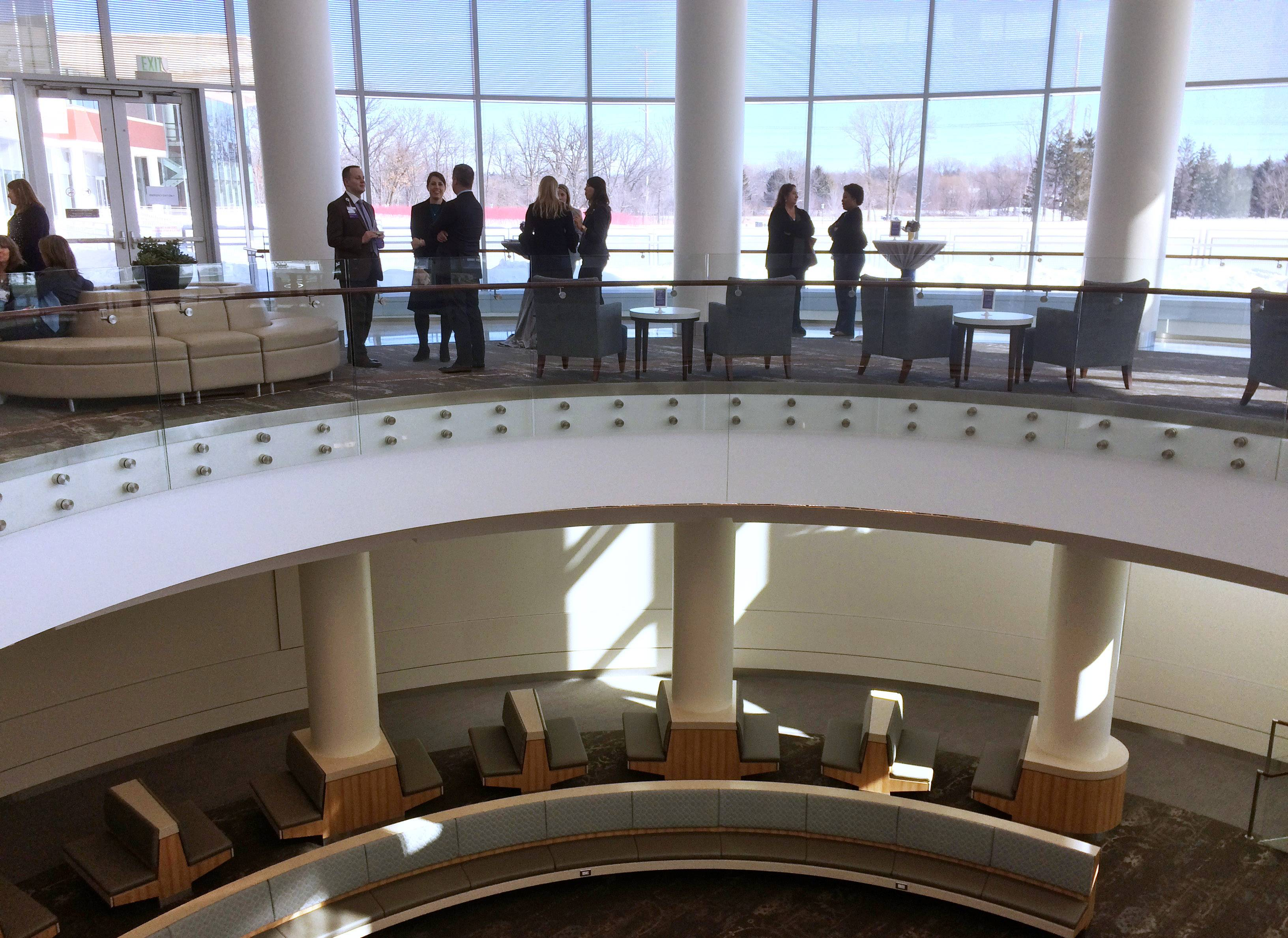 Northwestern Medicine Lake Forest Hospital officials hold a ribbon-cutting ceremony at the new hospital Monday morning.