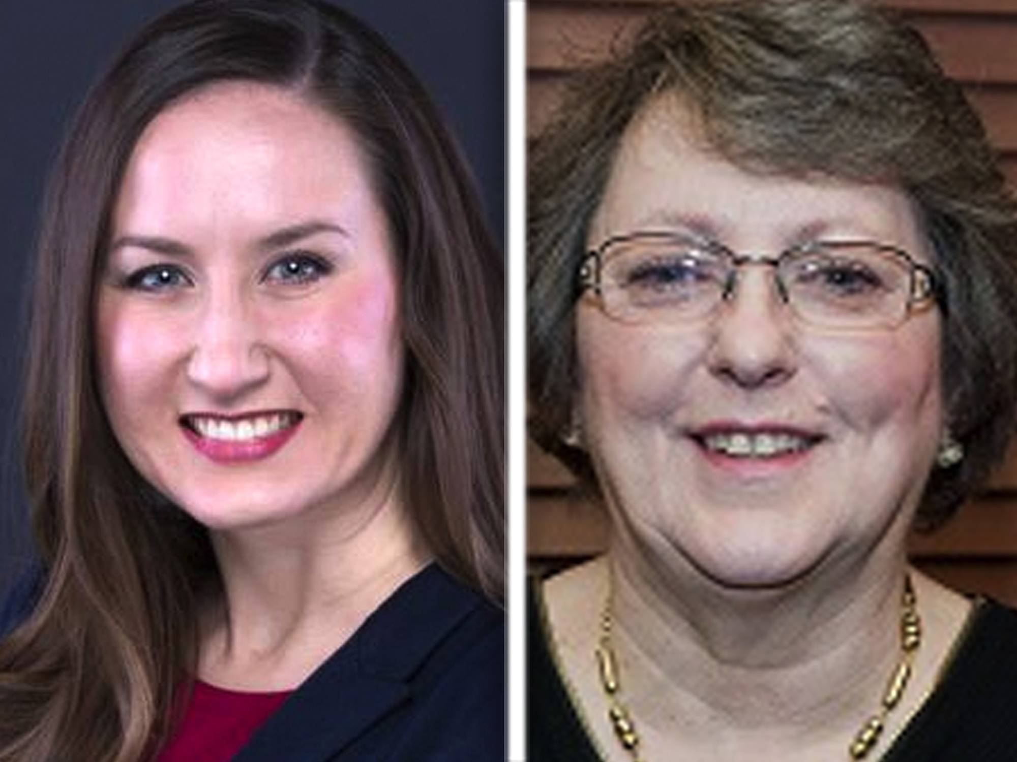 Jillian Bernas, left, and Charlotte Kegarise are candidates in the Republican primary for the 56th state House District seat.