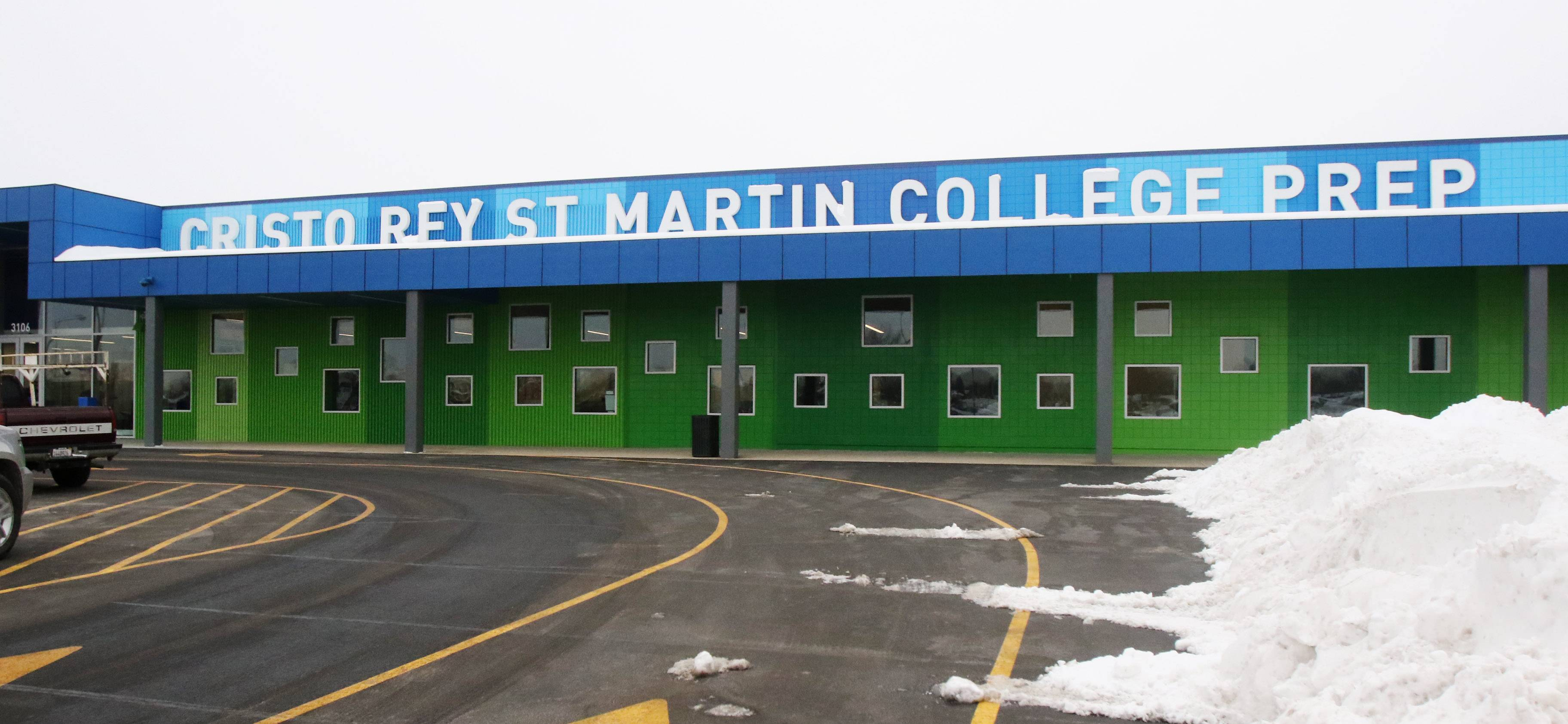 Tuesday marked the first day of classes at Cristo Rey St. Martin College Prep new home in Waukegan. The building was transformed from a vacant Kmart big box store.