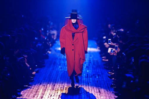 Fashion from Marc Jacobs collection is modeled during Fashion Week in New York, Wednesday, Feb. 14, 2018. (AP Photo/Andres Kudacki)