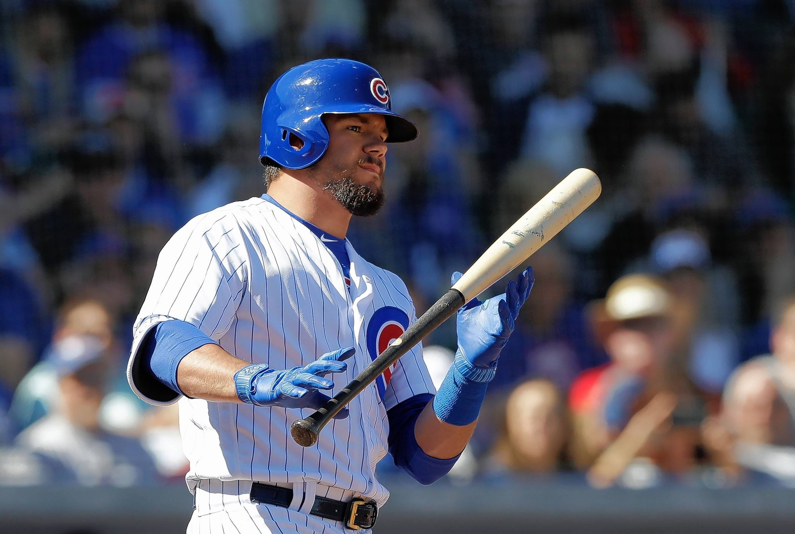 Cubs outfielder Kyle Schwarber, here batting against the White Sox on Tuesday in a spring training game in Mesa, Ariz., says he feels more explosive after his extensive off-season conditioning work.