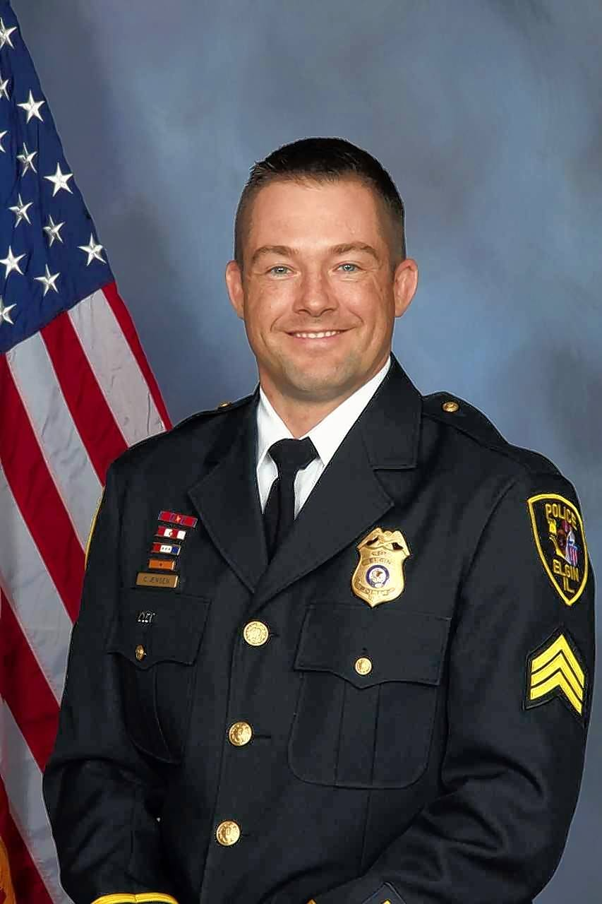 Elgin police Lt. Christian Jensen was put on leave pending an investigation into an officer-involved shooting Monday.