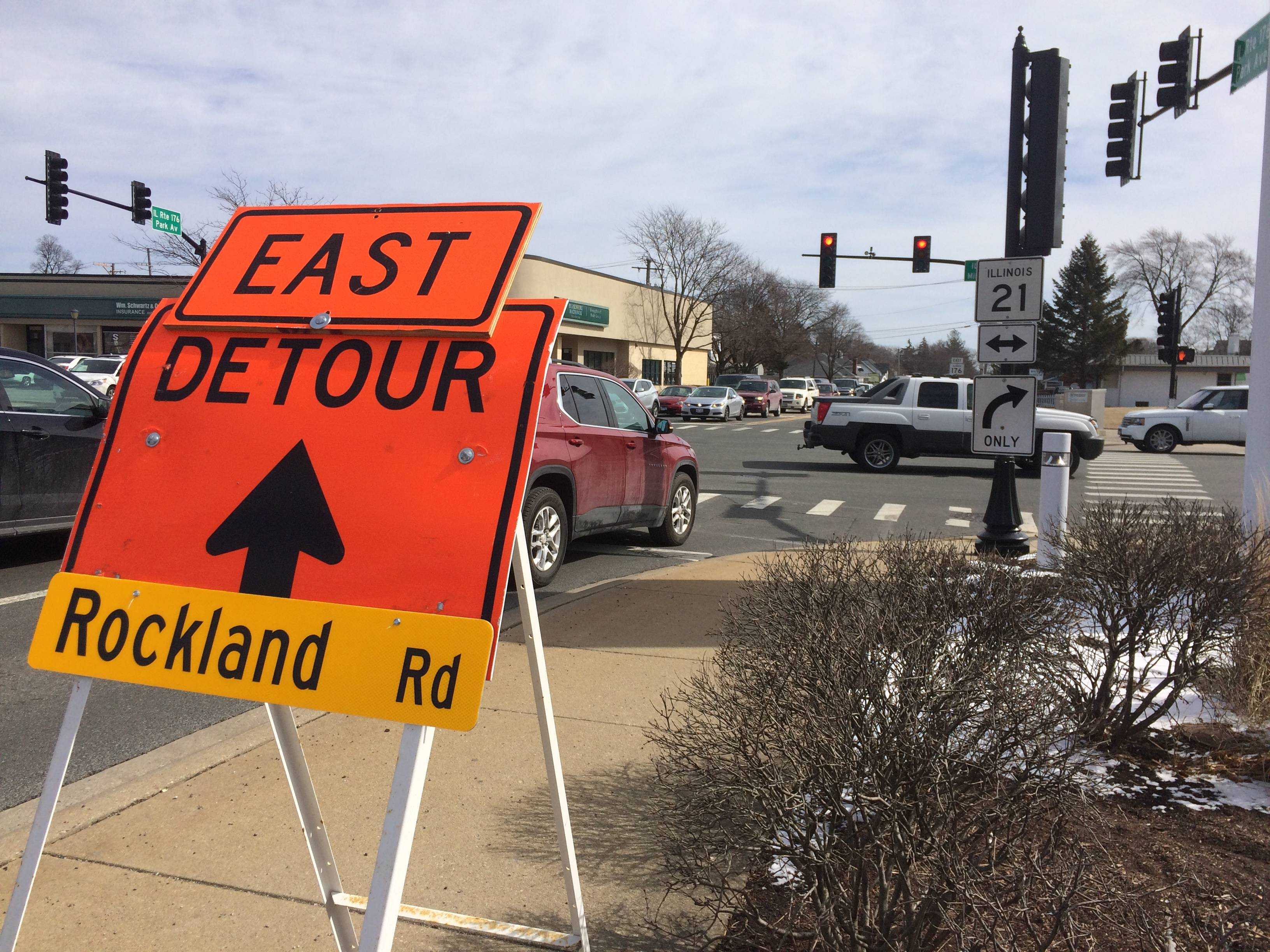 The Rockland Road bridge over the Des Plaines River in Libertyville has been closed and traffic detoured since Feb. 1.