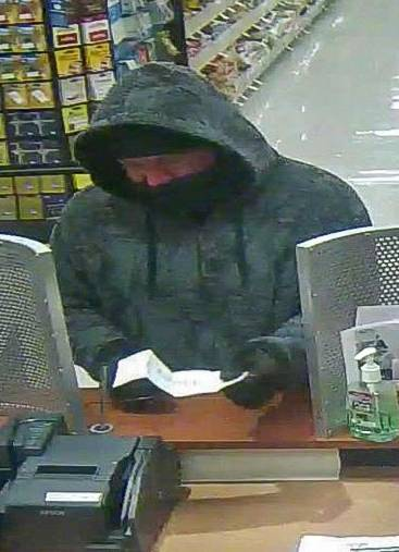 Glendale Heights police and the FBI are searching for this man in connection with a Wednesday morning bank robbery.