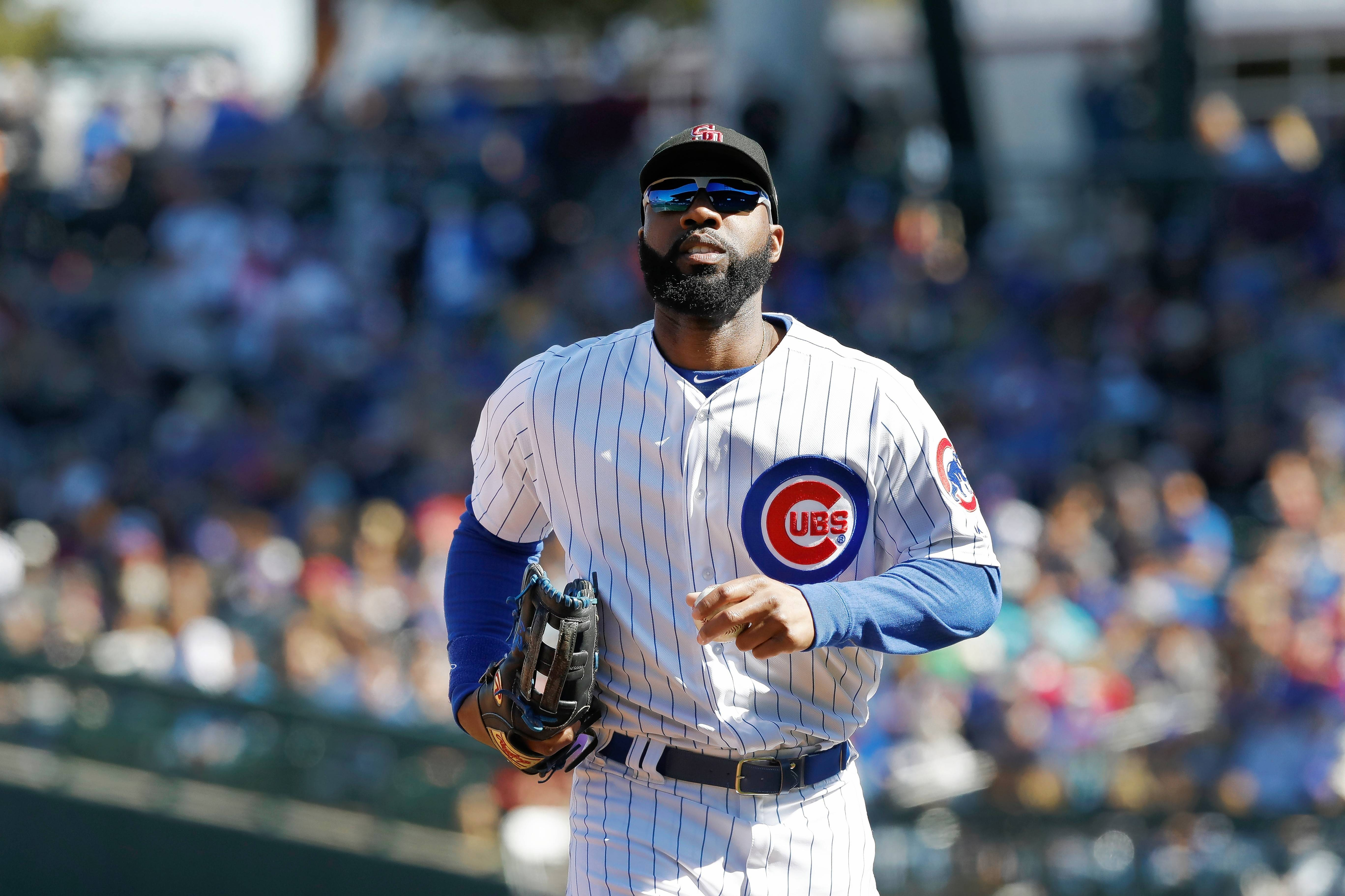 Chicago Cubs right fielder Jason Heyward's batting numbers improved from his first season with the Cubs, but they are far behind his best season in 2012 with Atlanta.