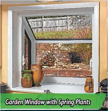 Plant windows, which act as small greenhouses, are a specialty product offered at Sahara Window and Doors.