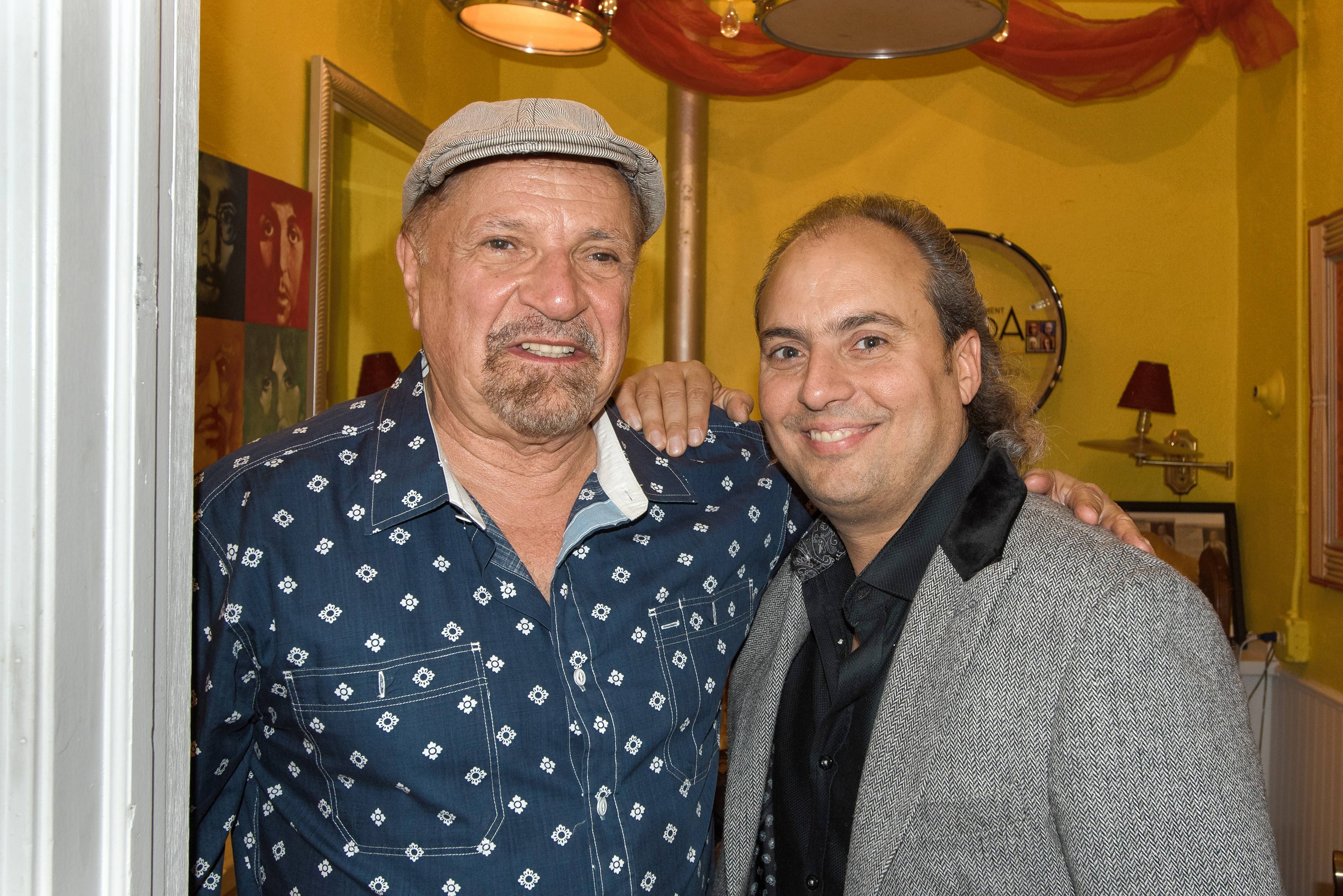 "The Arcada Theatre owner Ron Onesti, right, has worked so much with Felix Cavaliere of the Young Rascals that he refers to him as ""Uncle Felix."""