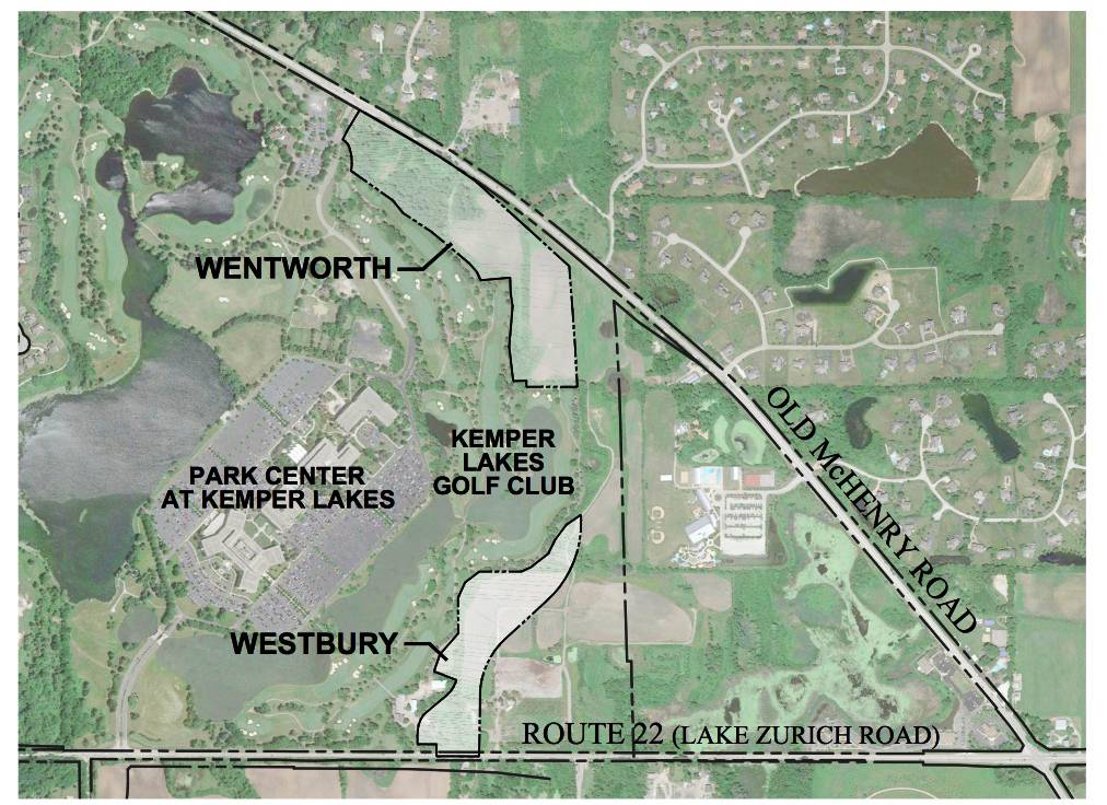 Residential real estate developer M/I Homes wants to build 74 single-family houses and 24 duplexes near Old McHenry Road and Route 22 in Kildeer. The two developments would be called Wentworth and Westbury.