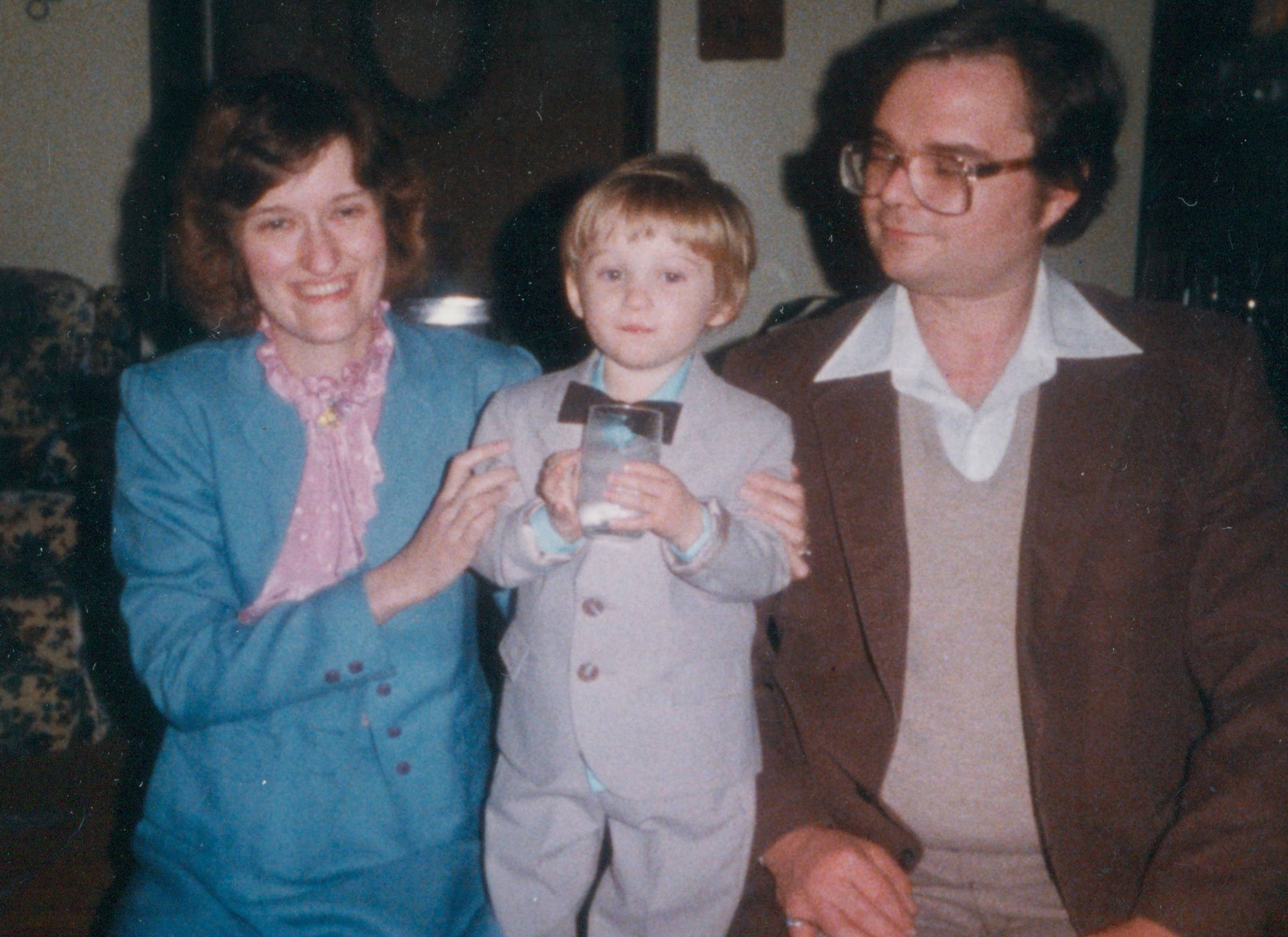 Janice and Joe Such in 1984 with son Nicholas, 2.