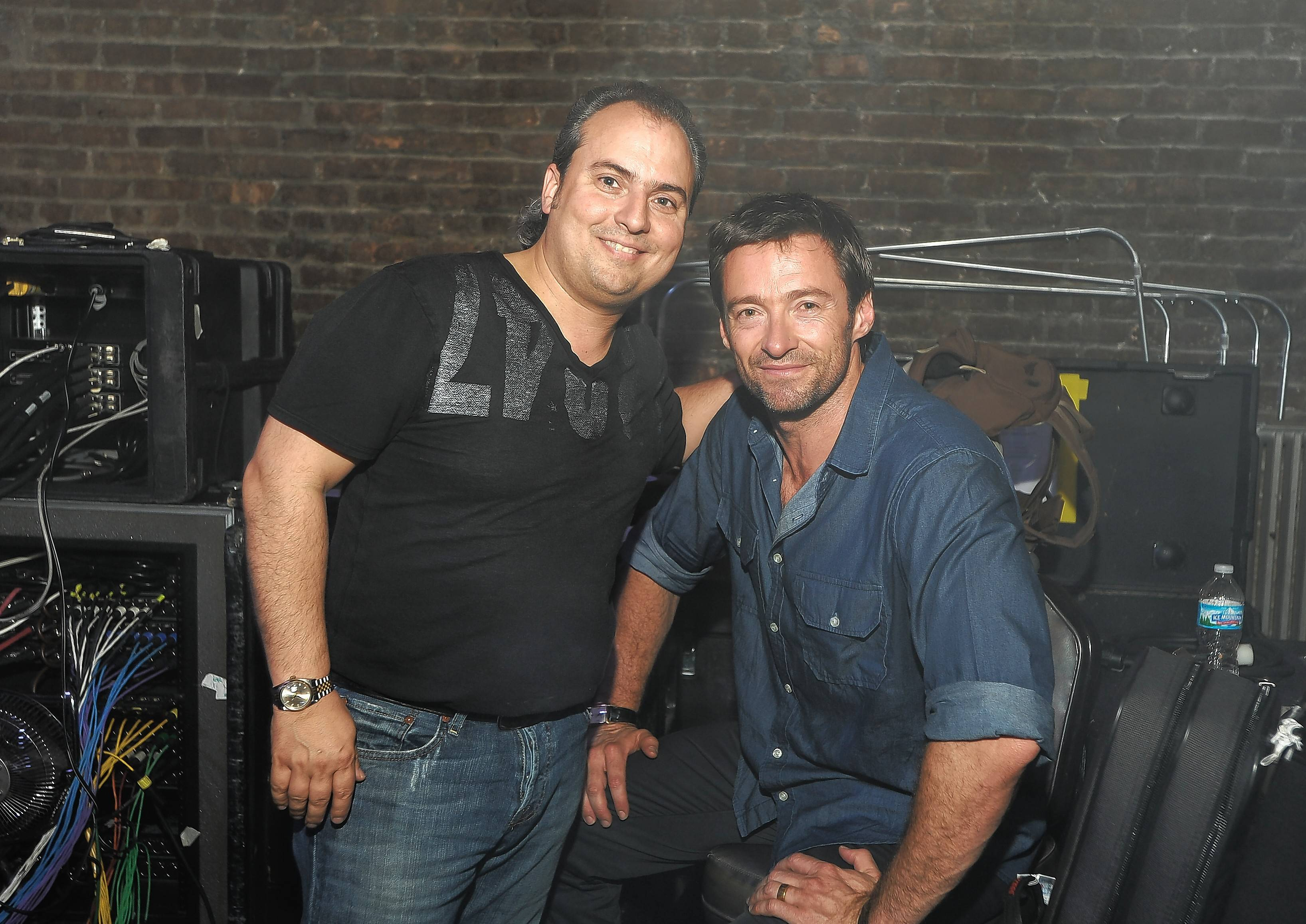 Actor Hugh Jackman, right, and Ron Onesti at the Arcada Theater in St. Charles.