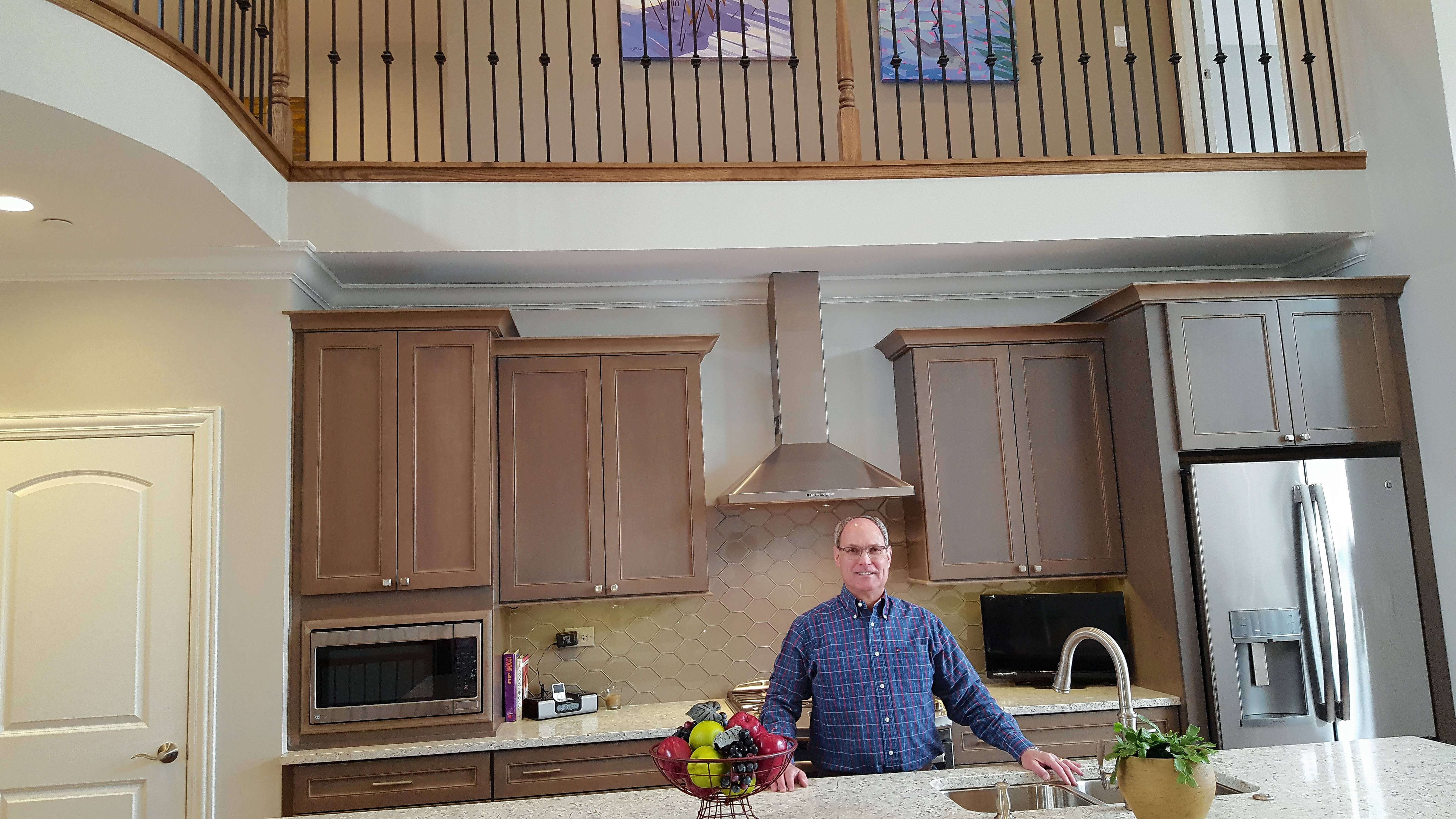 Jeff Samuels is seen in the dramatic Normandy model home at Victoria Park in Libertyville.