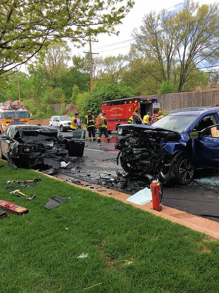 This two-car crash in Lisle ended with one man dead and two people in the hospital Tuesday afternoon.