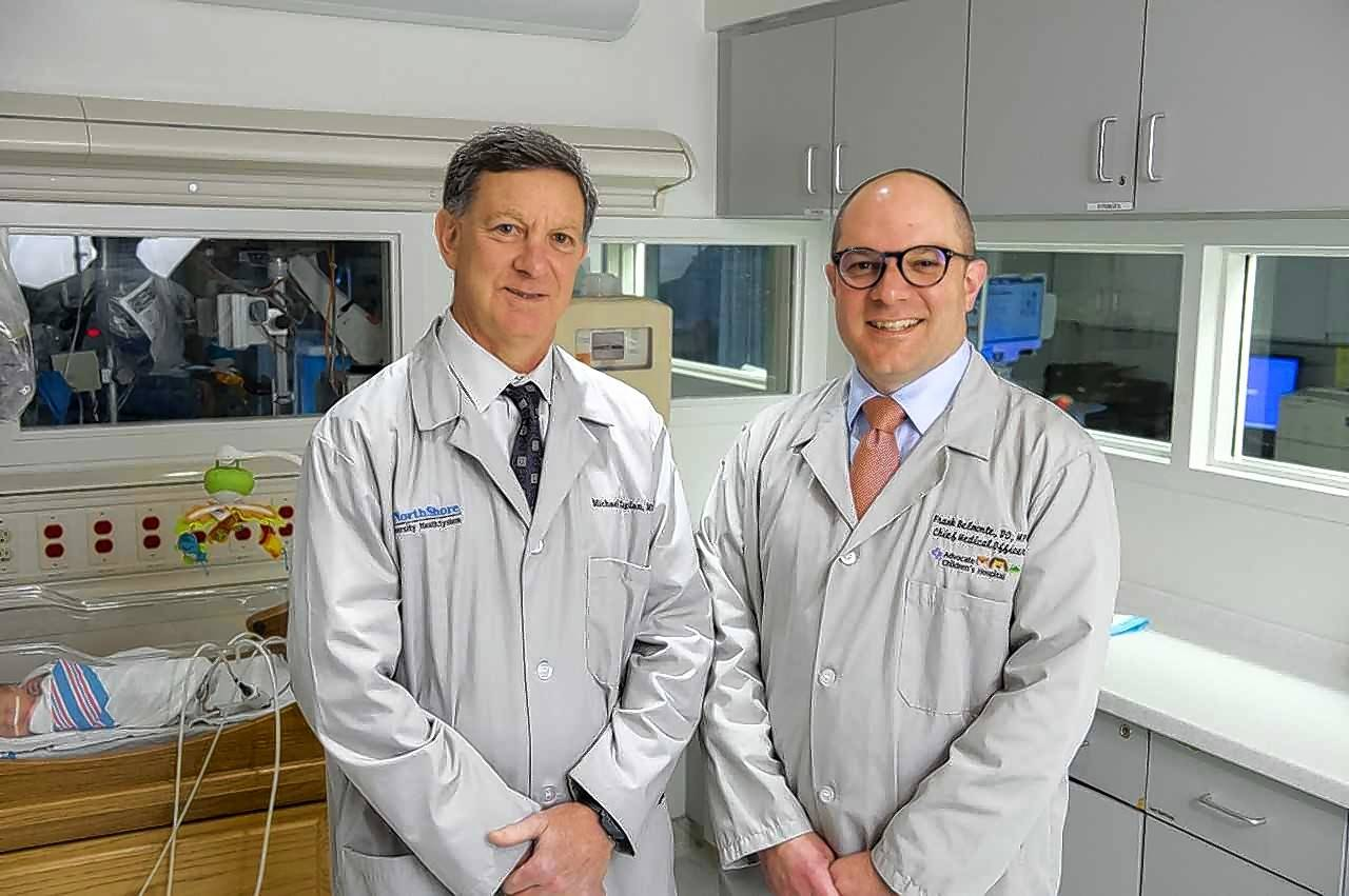 Dr. Michael Caplan of NorthShore and Dr. Frank Belmonte of Advocate will serve as co-chief medical officers in a new pediatric network.