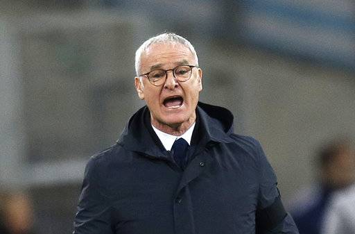 FILE - In this Sunday March 4, 2018 file photo, Nantes' coach Claudio Ranieri shouts instructions at his players during the League One soccer match between Marseille and Nantes, at the Velodrome stadium, in Marseille, southern France. Nantes coach Claudio Ranieri confirmed his departure from Nantes on Thursday May 17, 2018 and is leaving the French club at the end of the season.