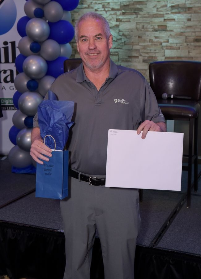 Bill O'Malley was the male winner of the Fittest Loser At Work competition.