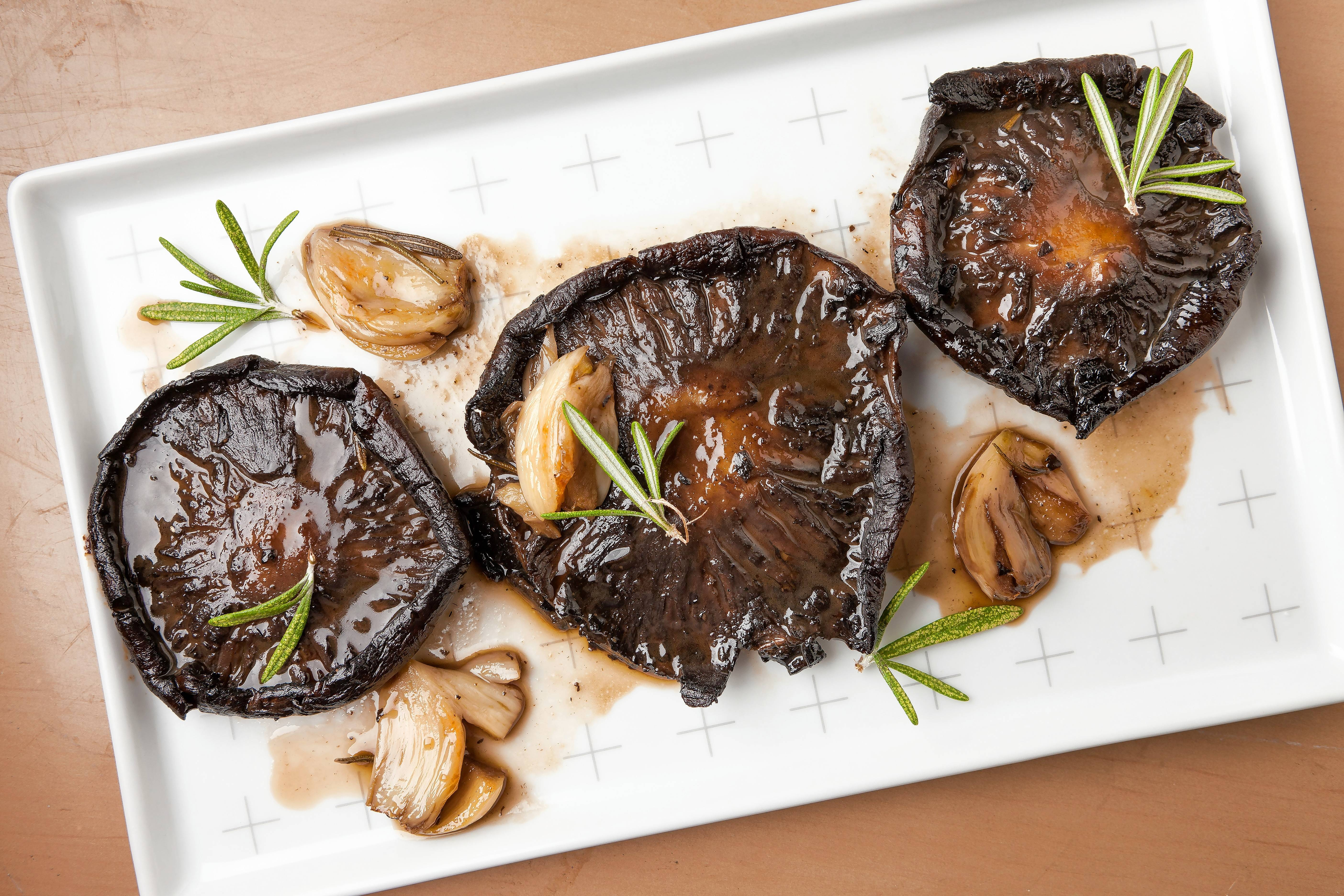 Beer-Roasted Mushrooms.