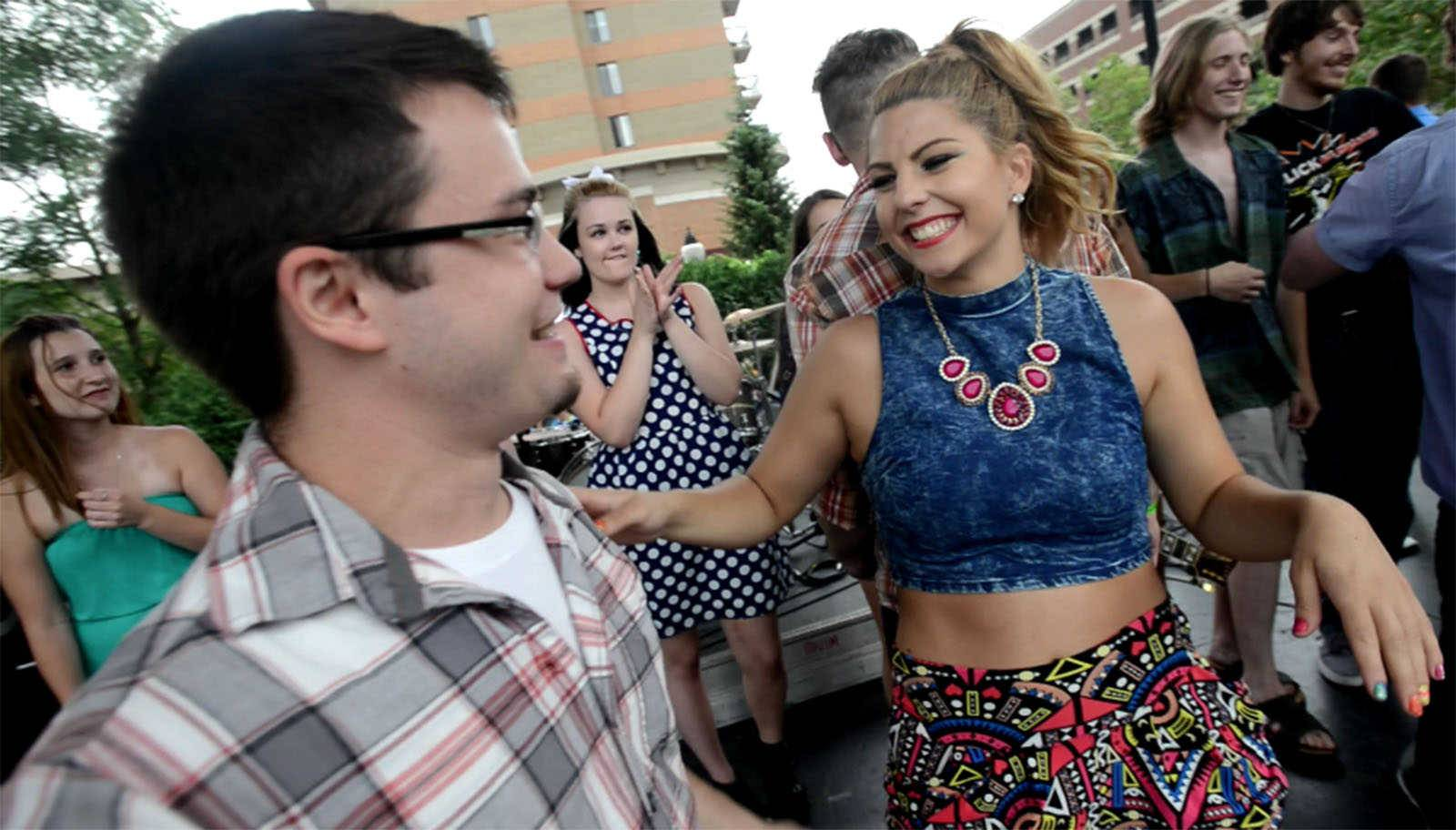 Laura Burke, right, formerly of Arlington Heights, was a competition co-winner with Ryan Cooper of Schaumburg for the 2015 summer season of Suburban Chicago's Got Talent.