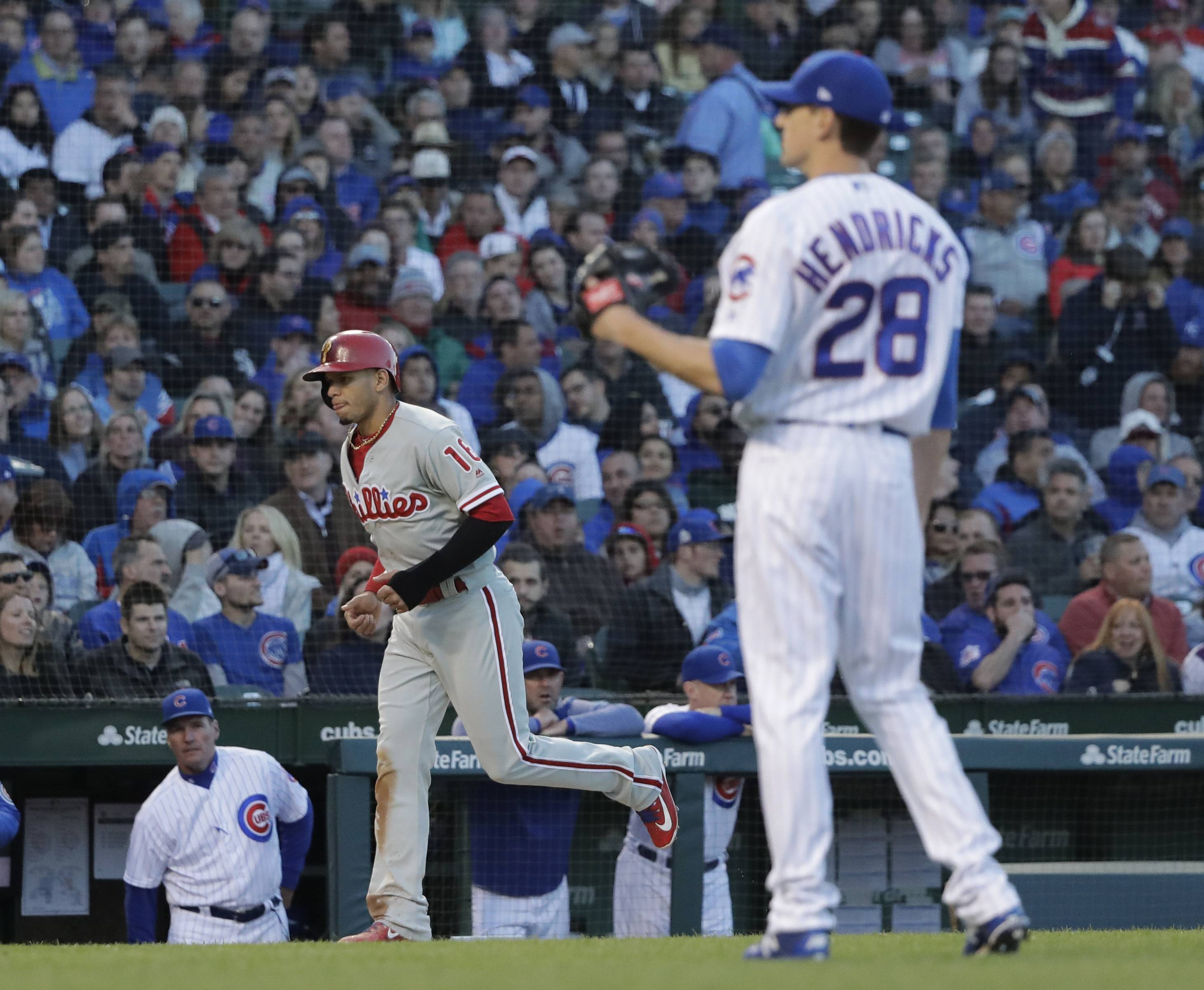 Hendricks struggles in Chicago Cubs' loss to Phillies