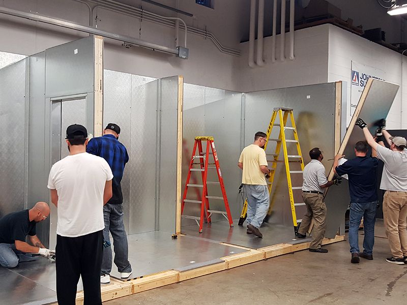 College of DuPage students build two state-of-the-art cooler trainers to enhance training opportunities and further align the program with industry needs and trends in the heating, ventilation, air conditioning and refrigeration program.