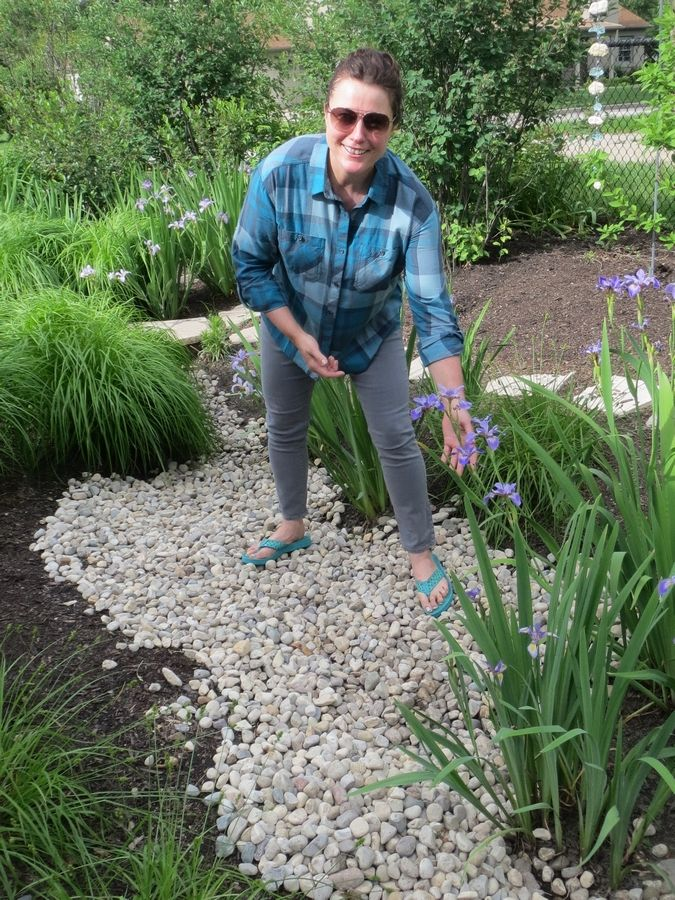 Leslie Meredith's garden will be featured on the Arlington Heights Garden Walk. Her creation of three rain gardens has eliminated the problems of standing water and basement seepage.