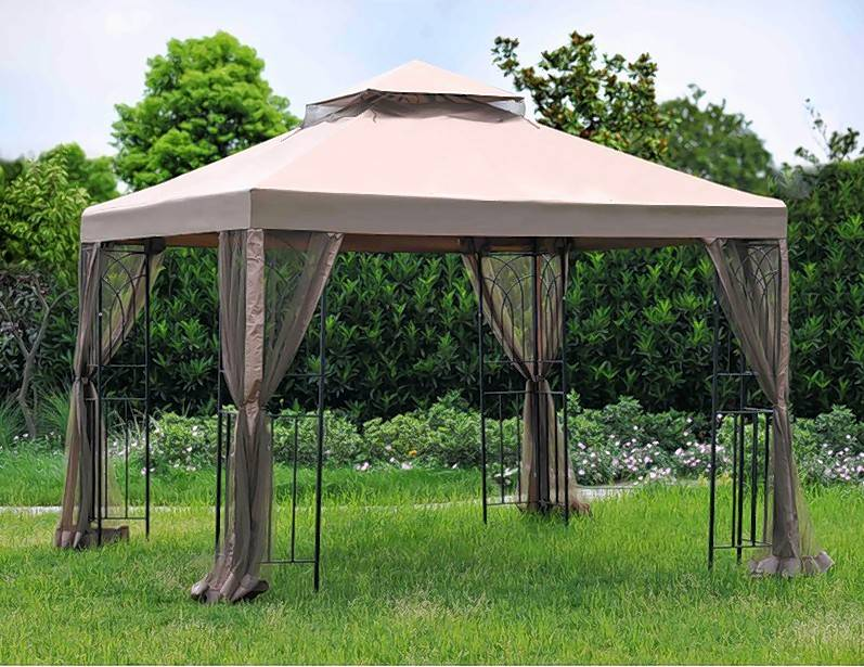 The Instant Gazebo Screen House could provide some privacy for the Boivin family.