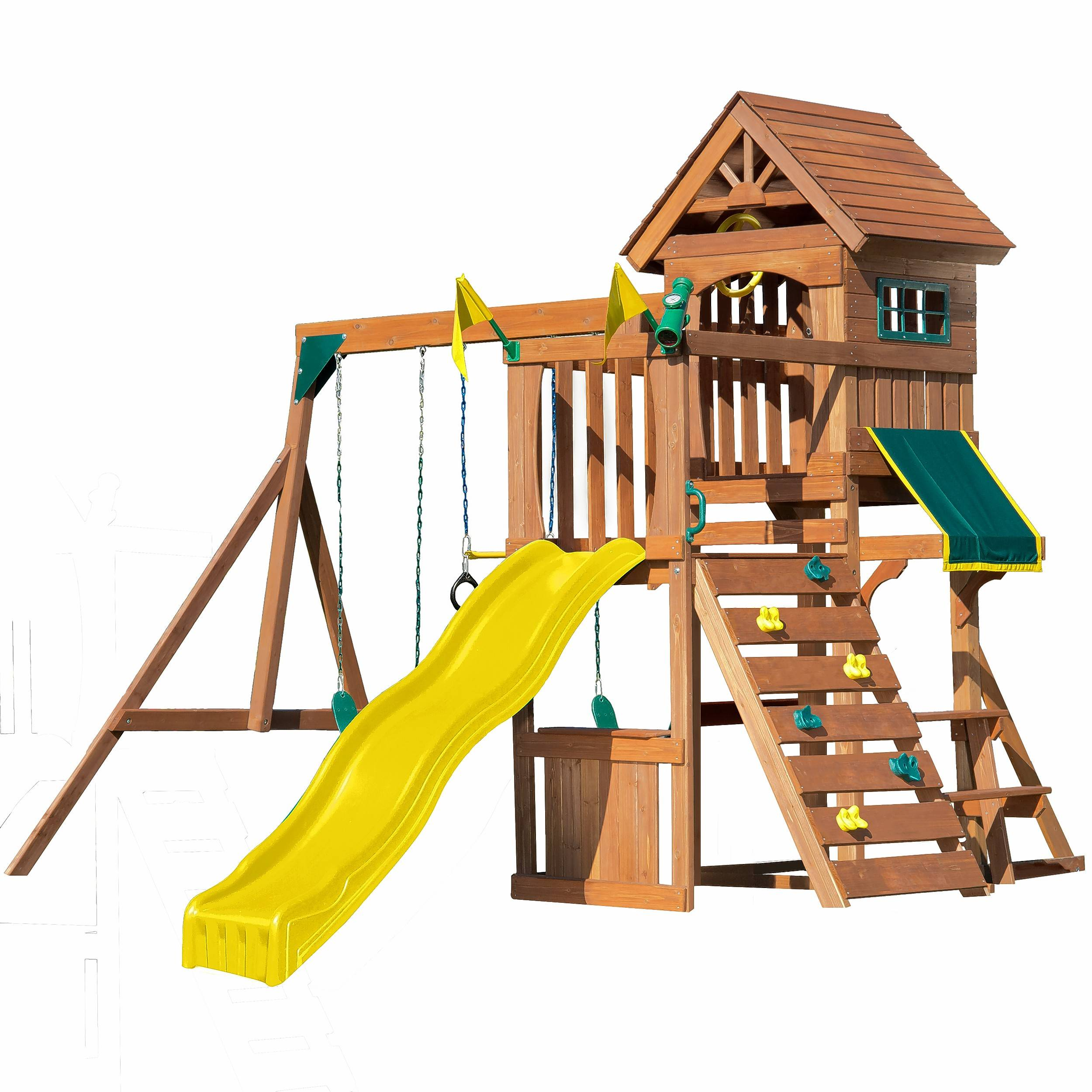 The Swing n' Slide Playset can be expanded as your child grows.
