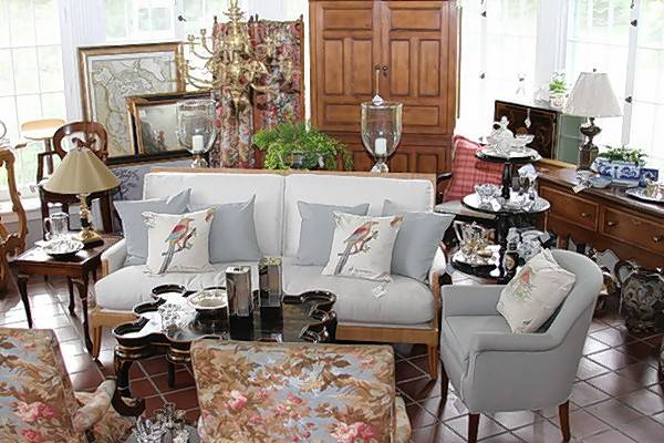 Visitors to the Barrington Garden Fair and Marketplace can browse The Farmhouse, which features a curated collection of furnishings, home accessories, and art.