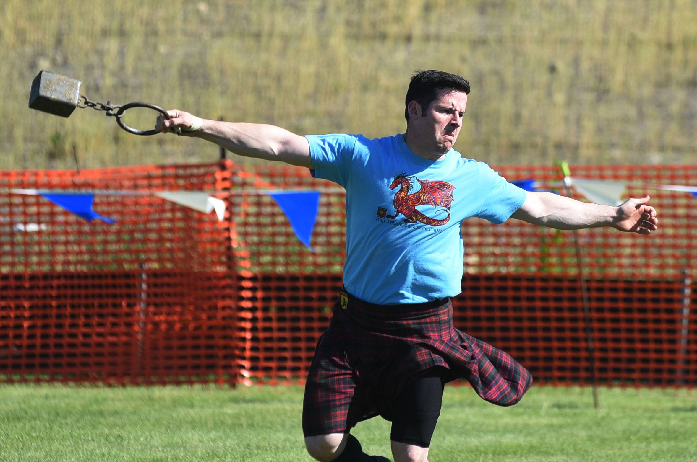 Greg Pilling of Indiana competed in the heavy athletics games at a previous Scottish Festival and Highland Games in Itasca.