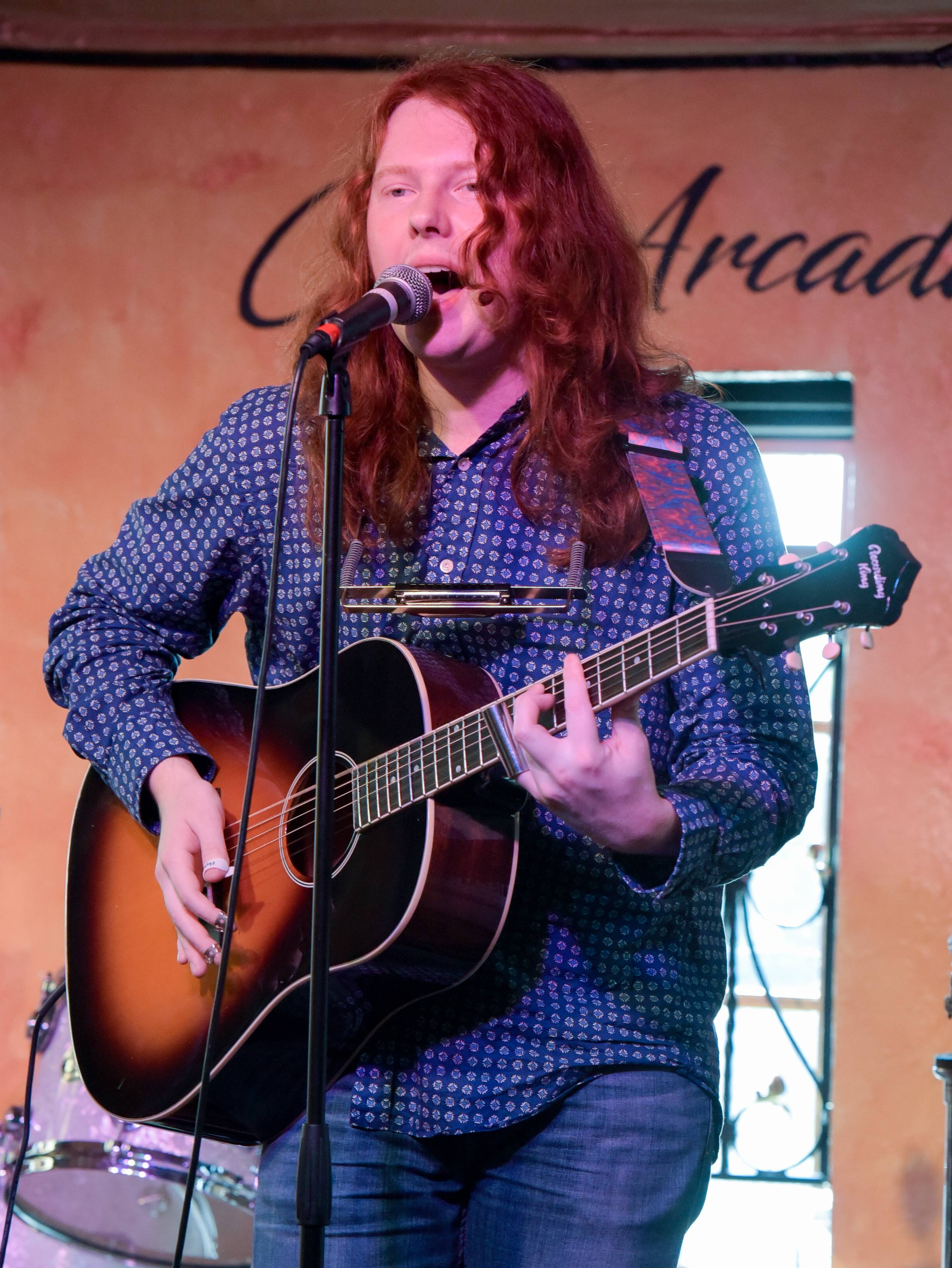 Michael McInerney, 19, of LaGrange takes part in the preliminary auditions Monday for Suburban Chicago's Got Talent at the Arcada Theatre in St. Charles.