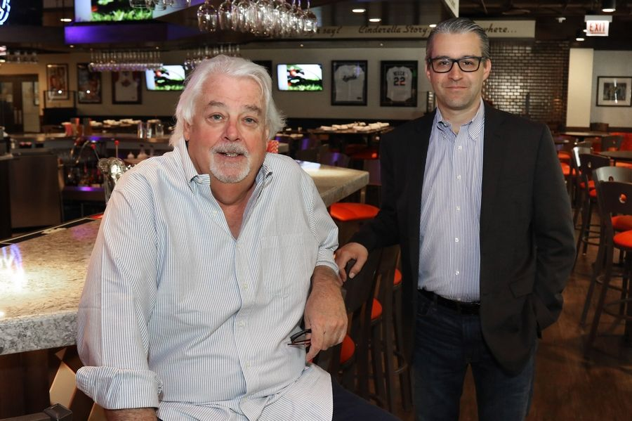 Chef and owner Andy Murray, left, and general manager Michael Avella recently opened Murray Bros. Caddyshack in Rosemont.