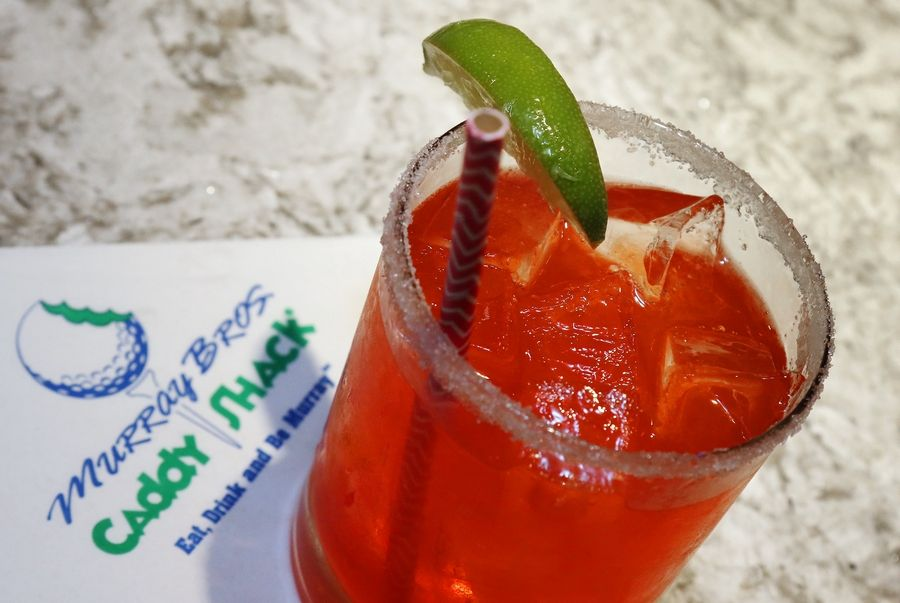Cool off with the Master's Champion Strawberry Margarita at Murray Bros. Caddyshack.