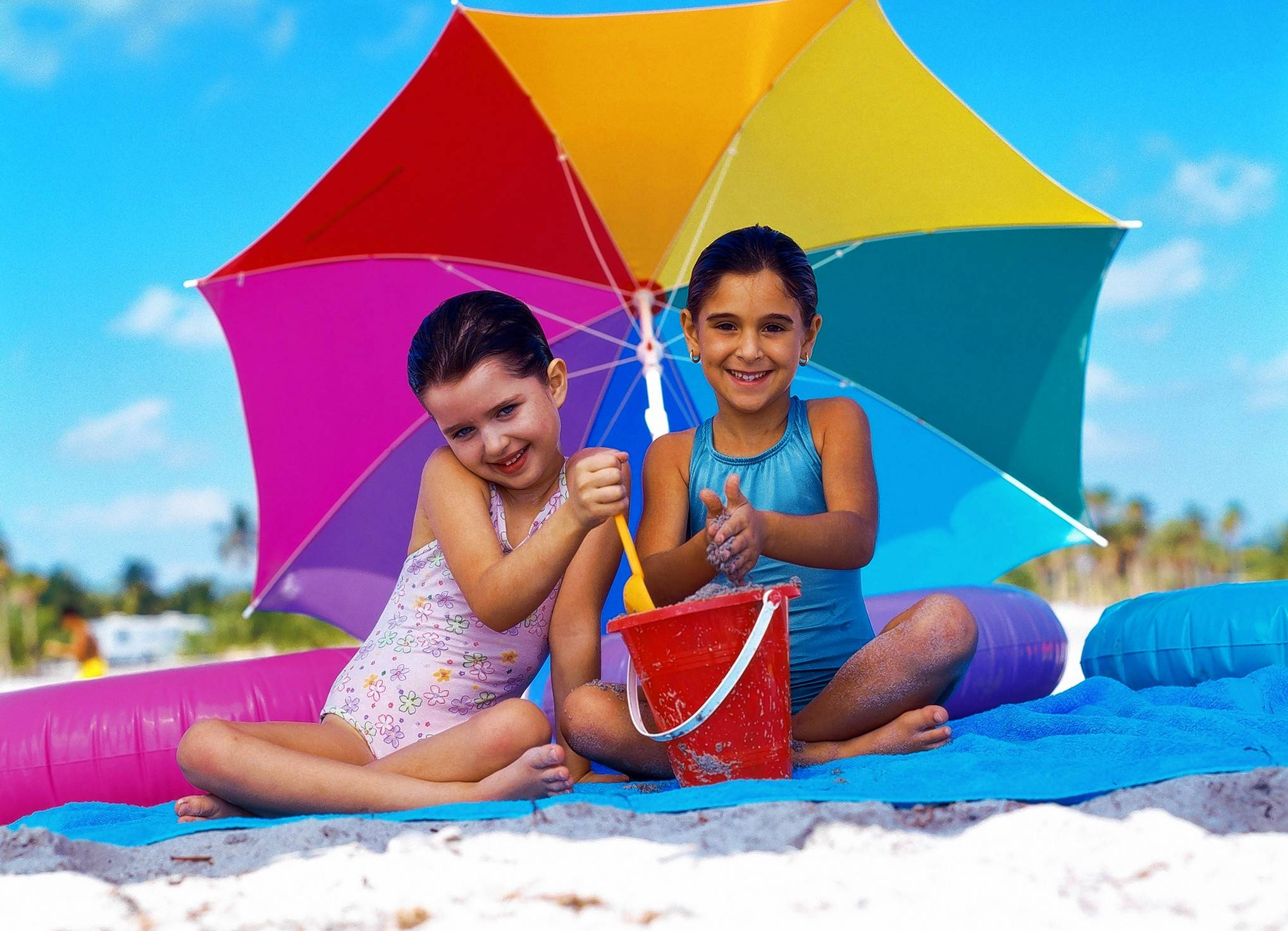 Are you headed to the beach for the holidays? A large beach umbrella can provide added protection for your kids from the sun's harmful rays.