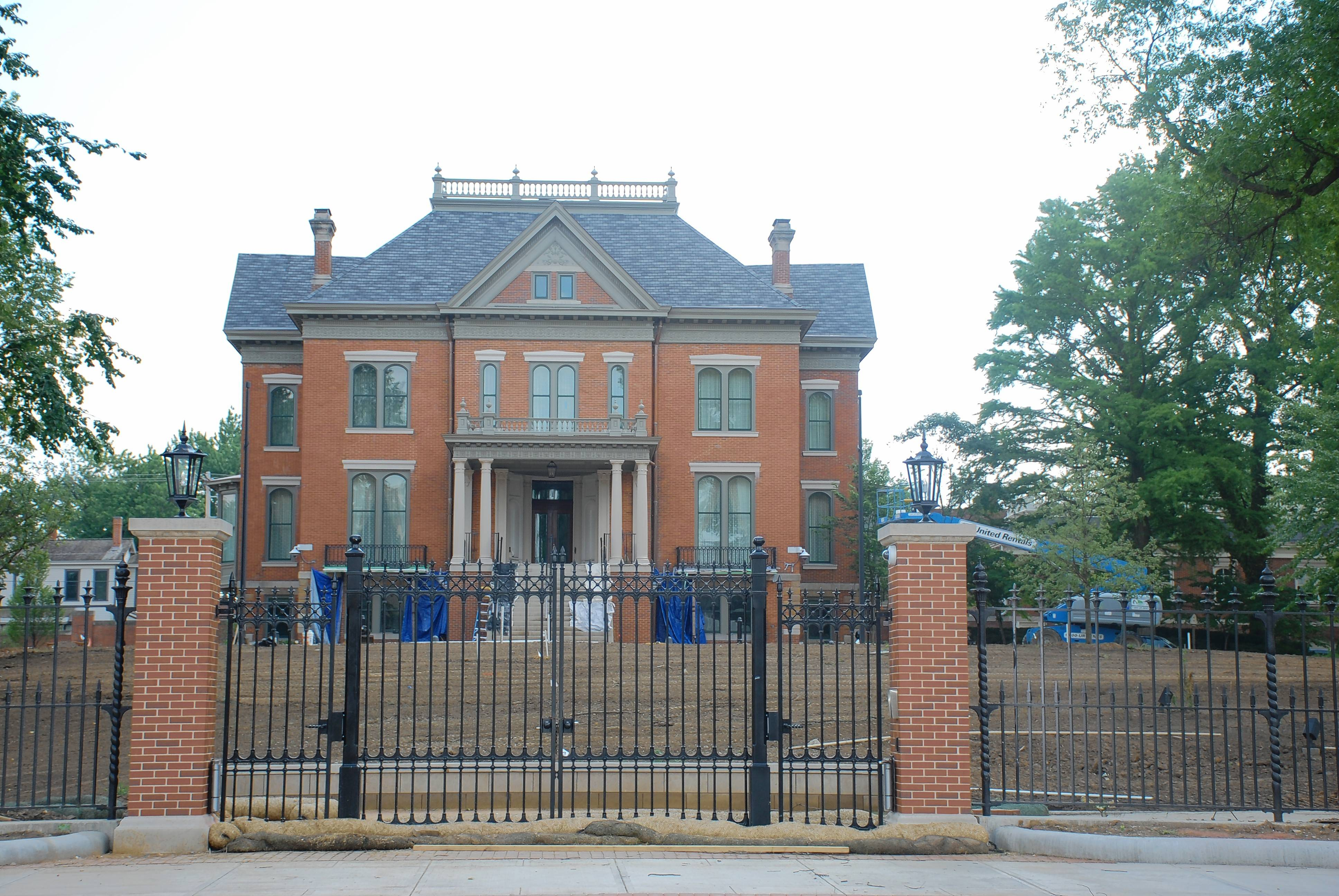 The newly restored Italianate-style Governor's Mansion is ready to host the people of Illinois once again, beginning July 14. Finishing touches are still in progress on the landscaping renovation.