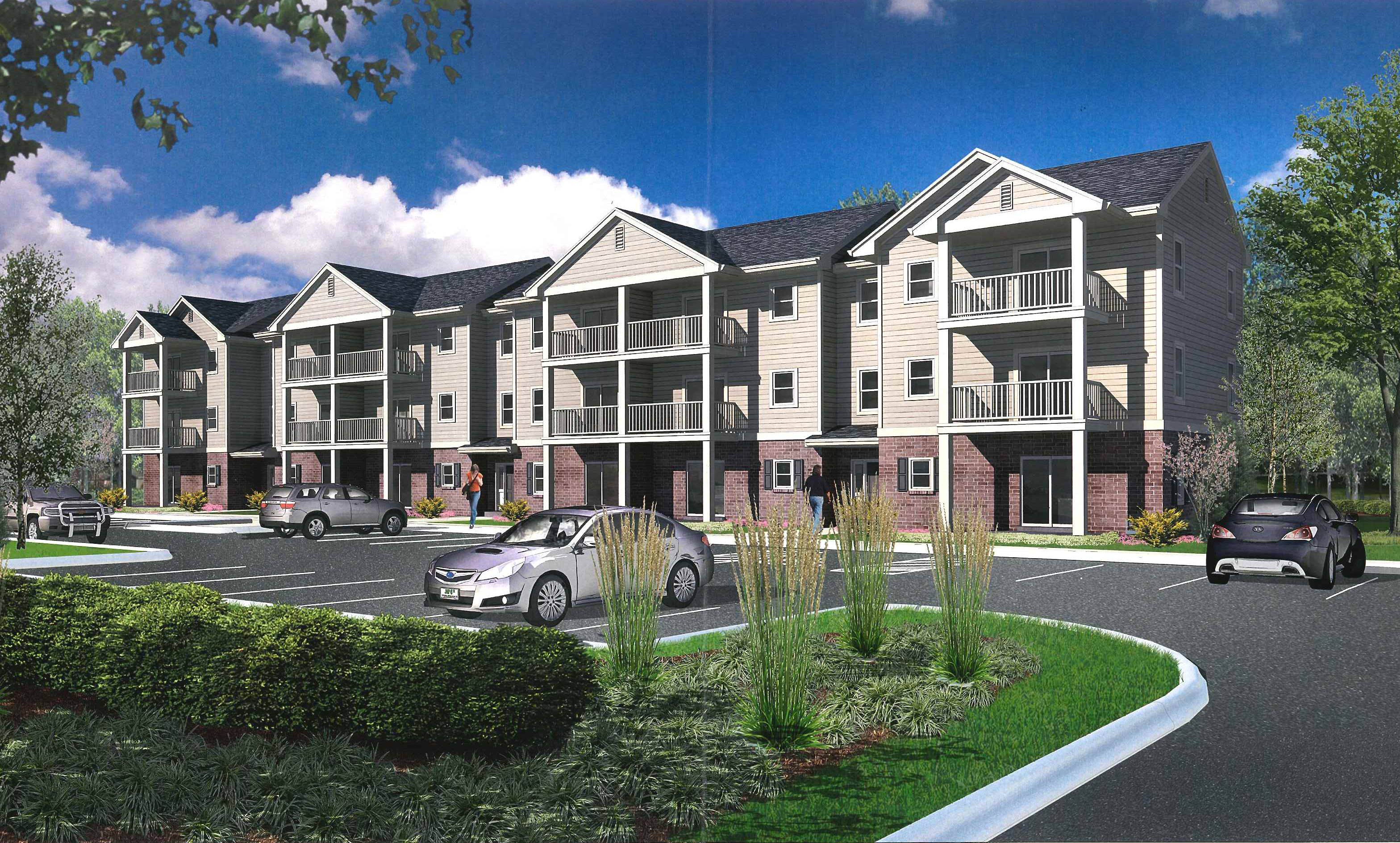 East Dundee is donating land to developers who intend to build two 18-unit apartment buildings at 811 E. Main St.