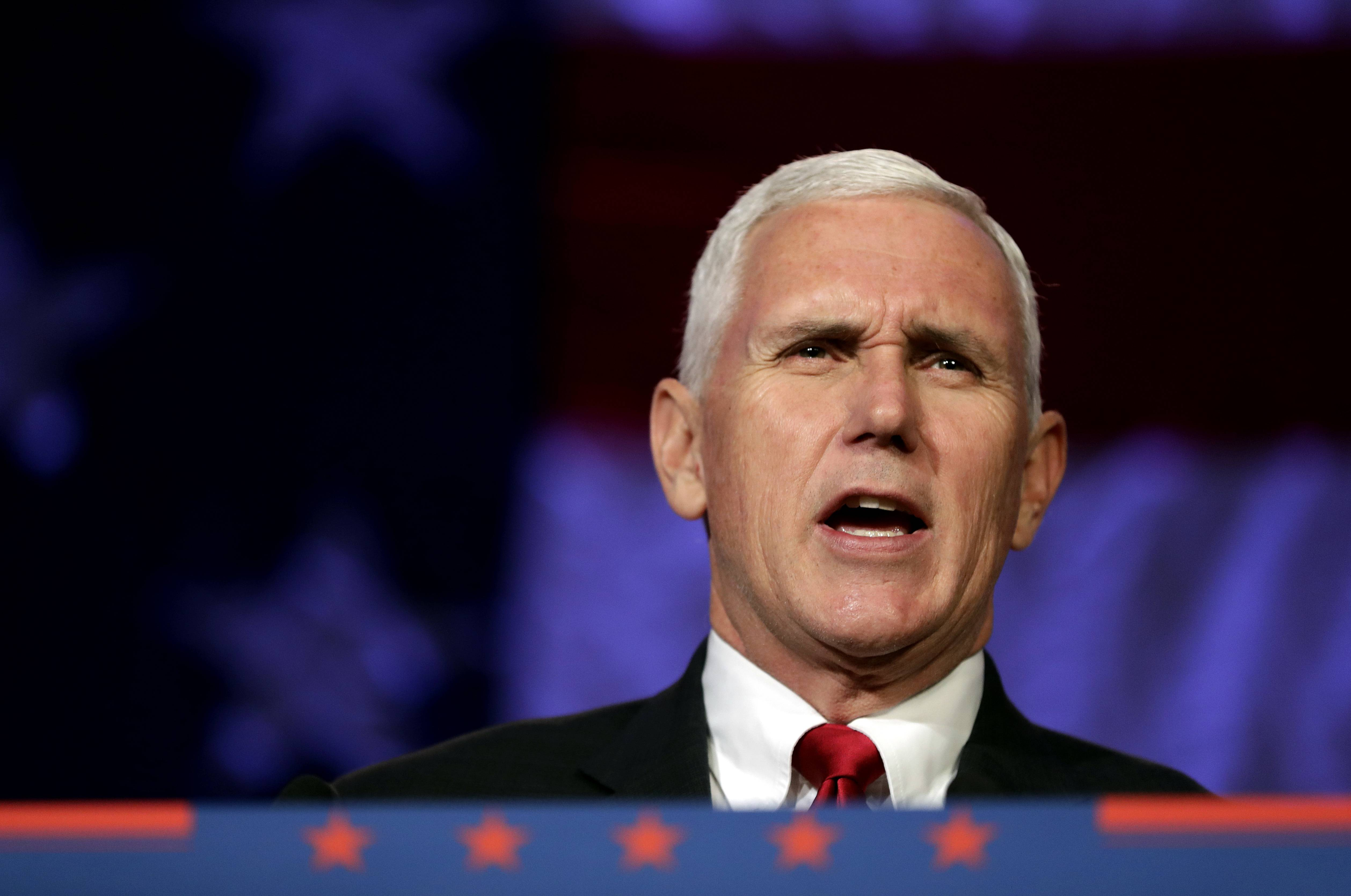 Vice President Mike Pence will make a stop in Rosemont Friday to tout the federal tax law approved late last year. Village officials are preparing for large crowds of supporters and protesters.