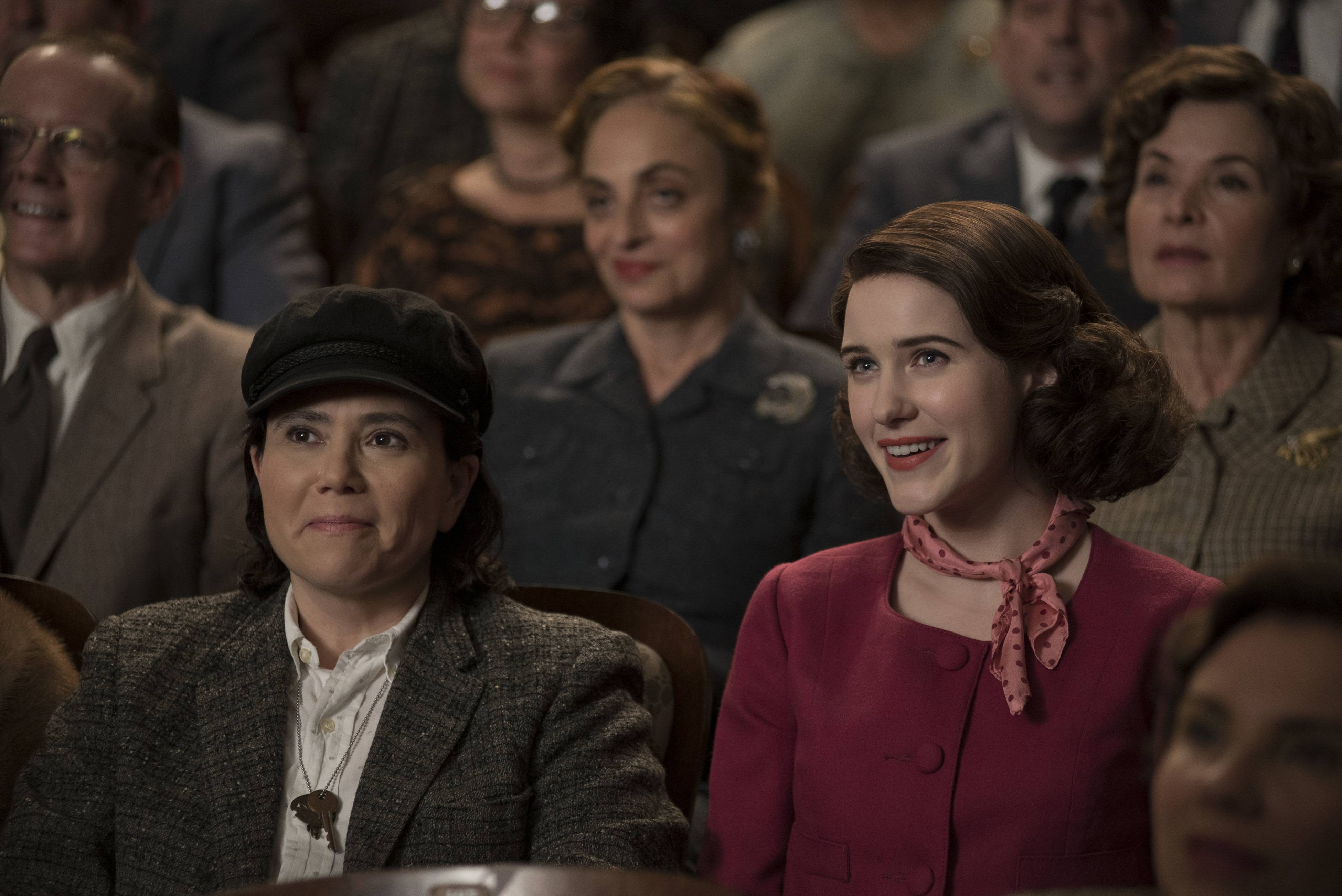 "Former Highland Park residents Alex Borstein, left, and Rachel Brosnahan both received Emmy nods for ""The Marvelous Mrs. Maisel."""