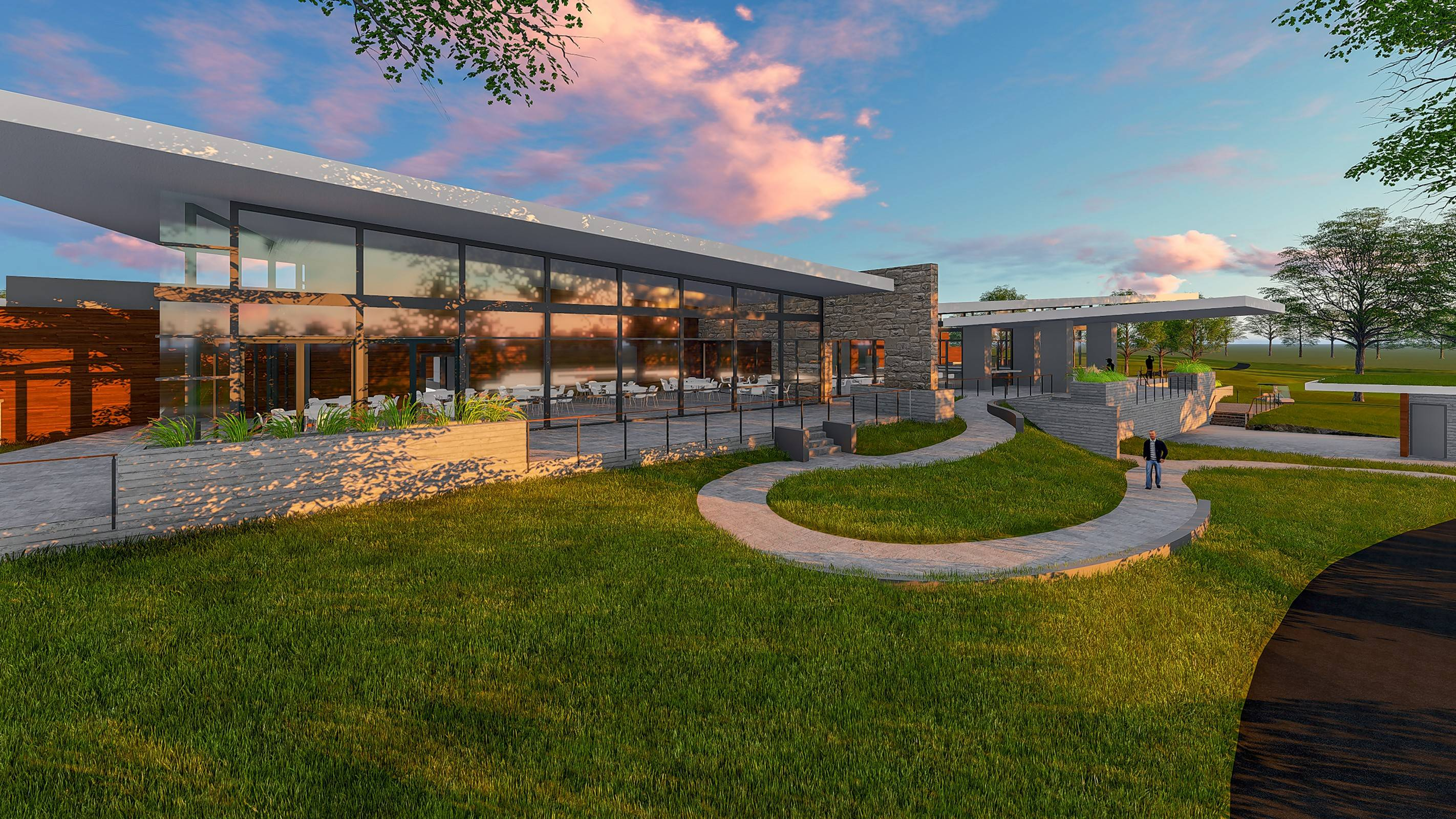 DuPage forest preserve commissioners are considering whether to build a clubhouse at The Preserve at Oak Meadows in Addison. The roughly 18,000-square-foot building would have a pro shop, a restaurant and bar, and outdoor terraces.