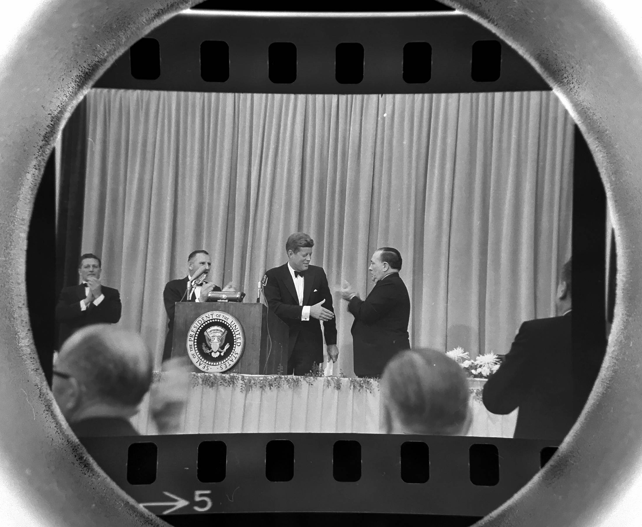 The Daily Herald Archives, Larry Cameron photo: In October of 1962, President John F. Kennedy in introduced by Chicago Mayor Richard Daley prior to speaking at McCormick Place in Chicago. Kennedy was lending his support to Rep. Sidney Yates in his run for the U.S. Senate.