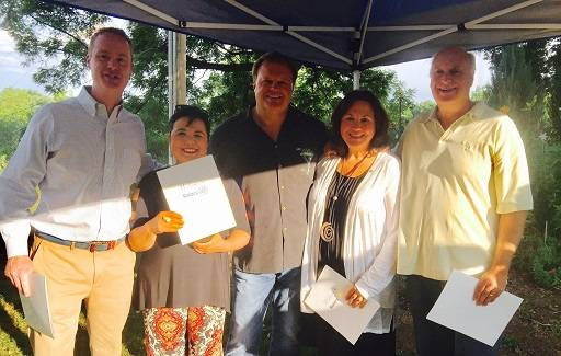 New members of the Lake Zurich Evening Rotary, from left: Dr. Tom Lutz, Anna Windel, Larry Windel, Petra Croneigh and John Croneigh; not pictured: Eric Corzine, Marisa McGarrigle and Sam Cavalleri.