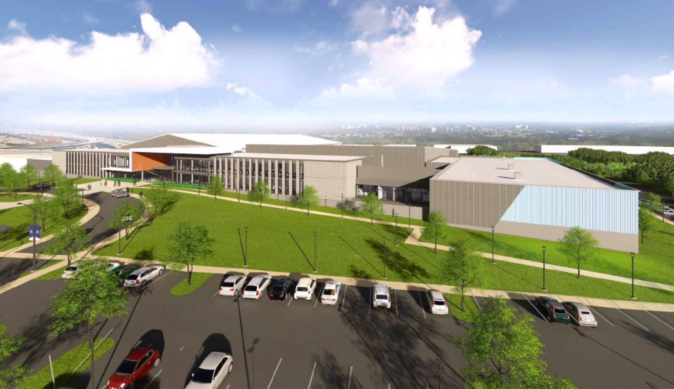 An architectural drawing of the St. James athletic facility that's been proposed for Lincolnshire.
