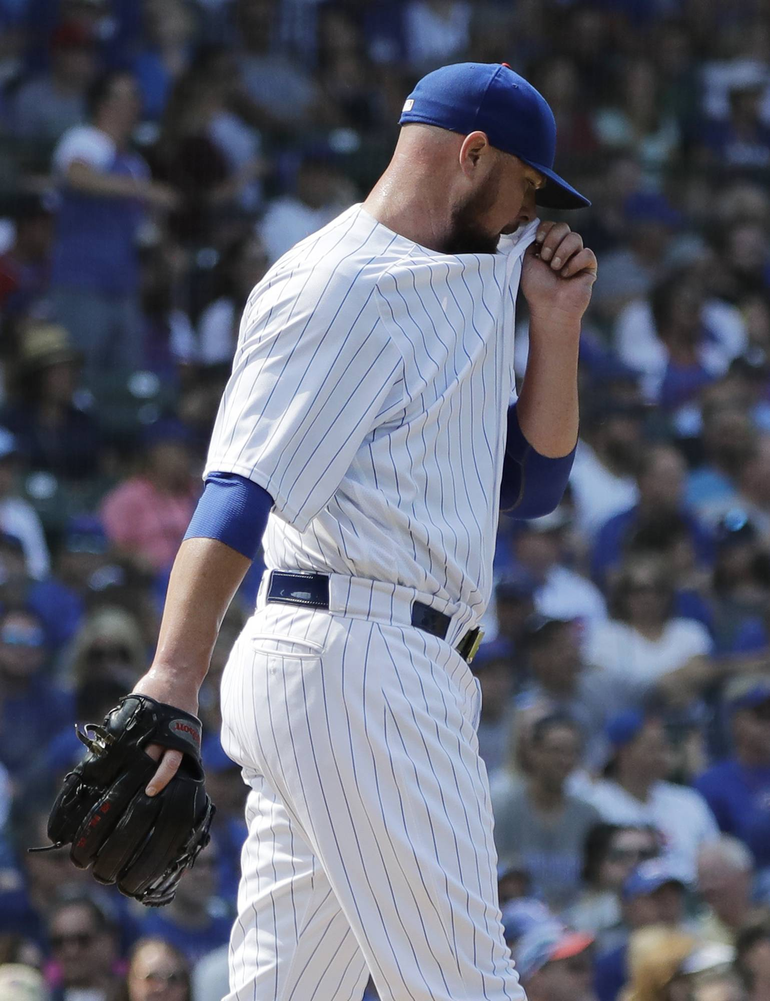 Slumping Lester rocked as Chicago Cubs fall to Nationals