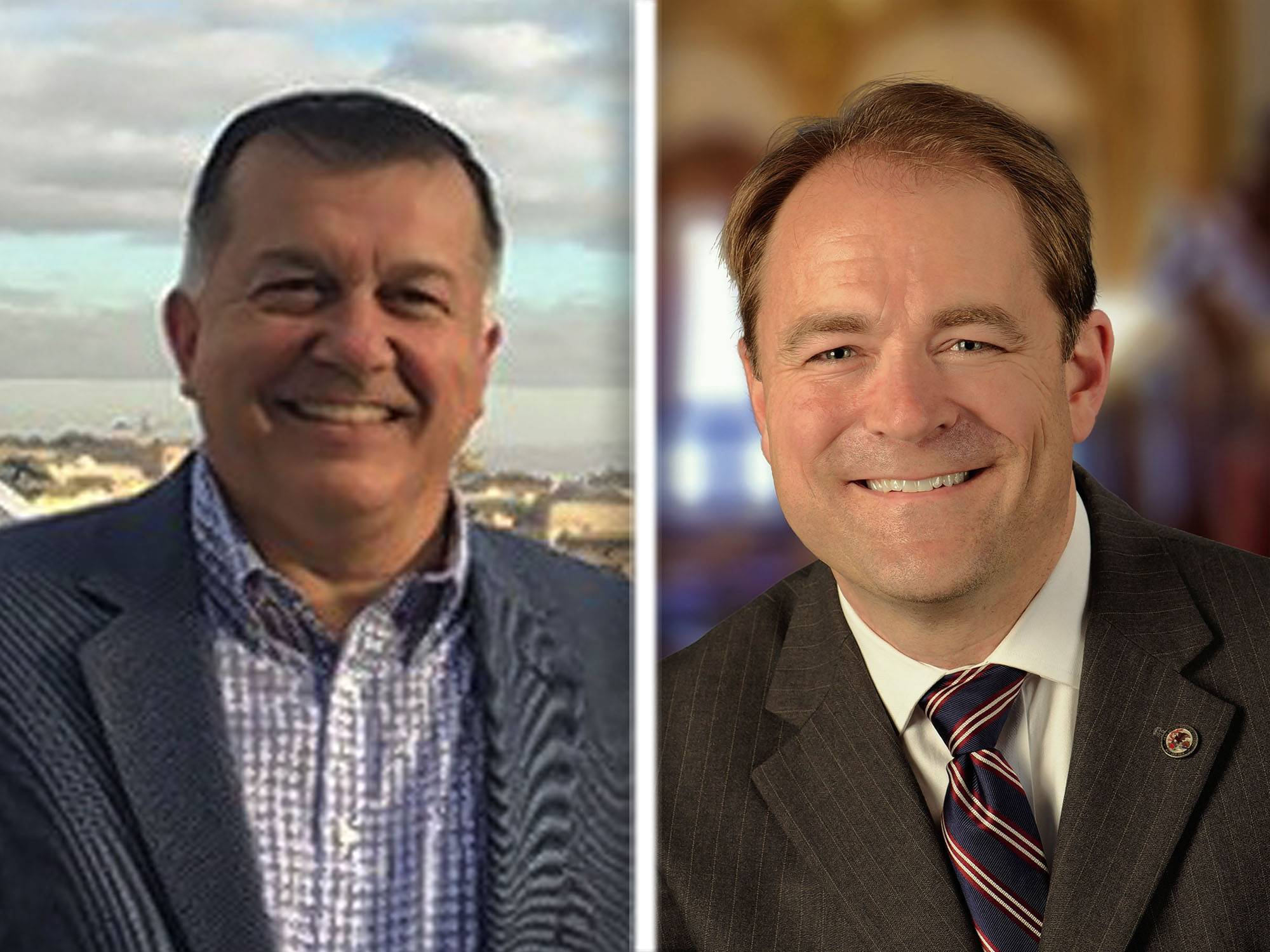 Democrat Tom Georges, left, and GOP incumbent Dan McConchie are candidates for the 26th state Senate District seat in the Nov. 6 election.